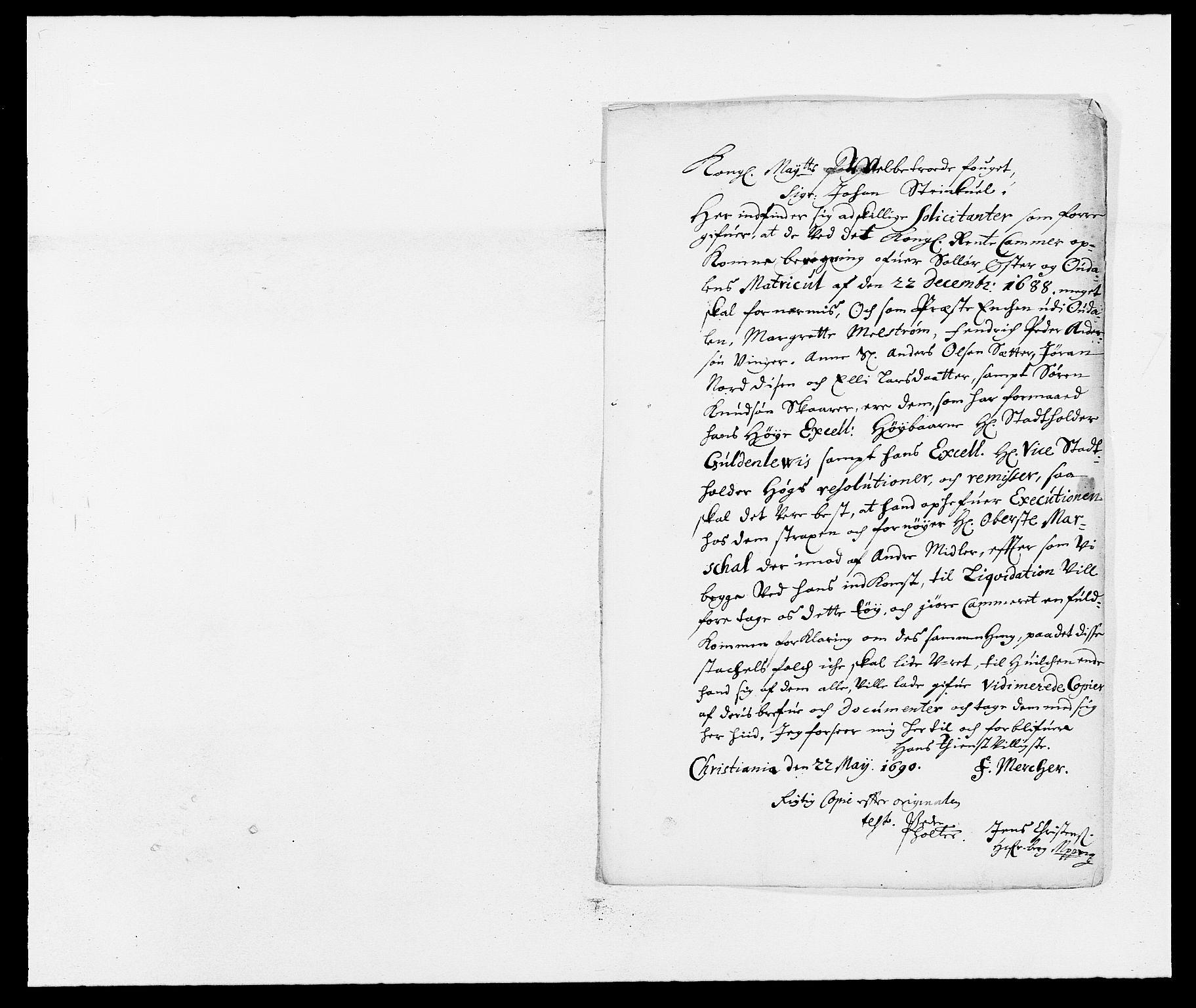 RA, Rentekammeret inntil 1814, Reviderte regnskaper, Fogderegnskap, R13/L0828: Fogderegnskap Solør, Odal og Østerdal, 1690, s. 158