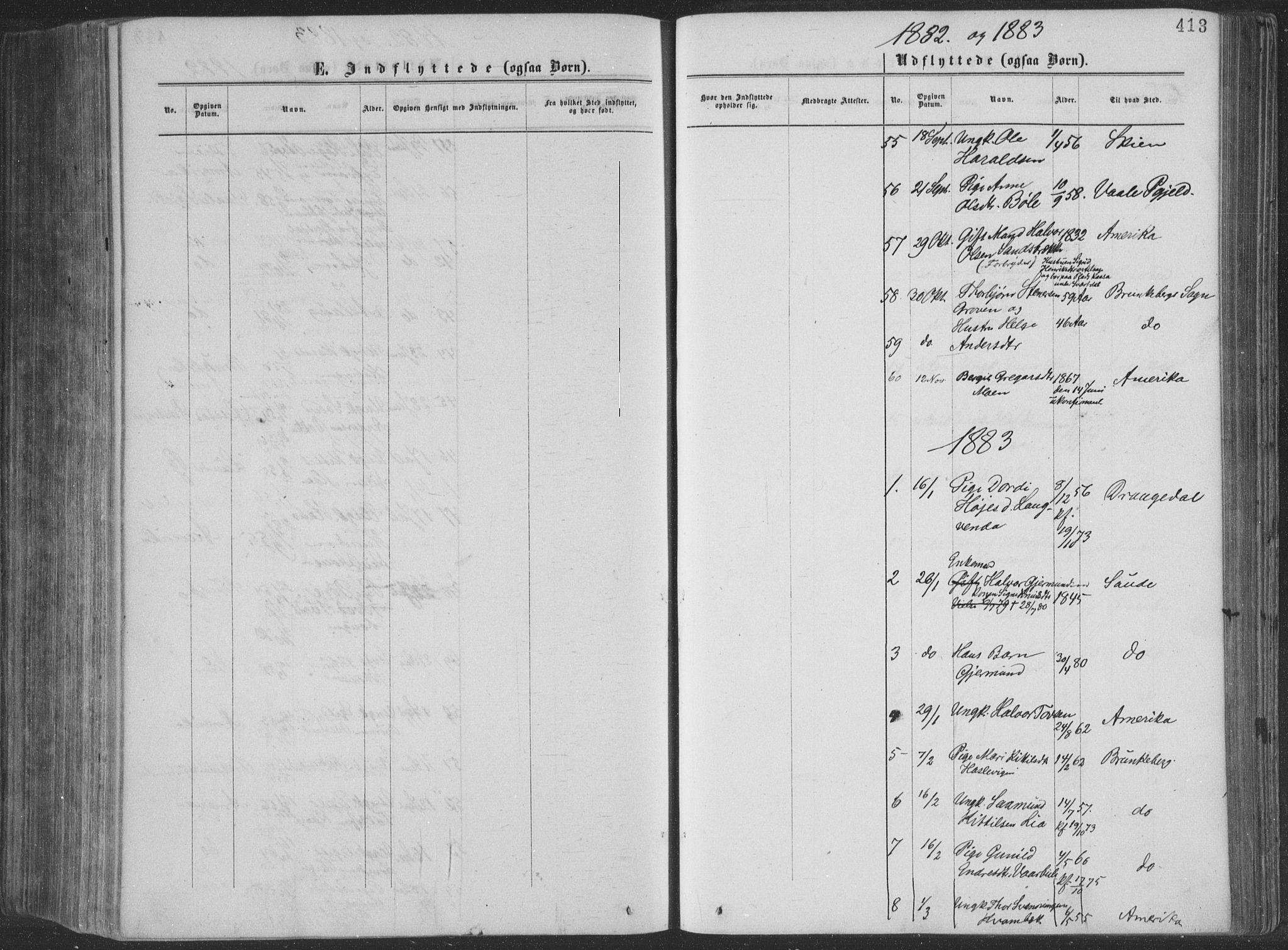 SAKO, Seljord kirkebøker, F/Fa/L0014: Ministerialbok nr. I 14, 1877-1886, s. 413