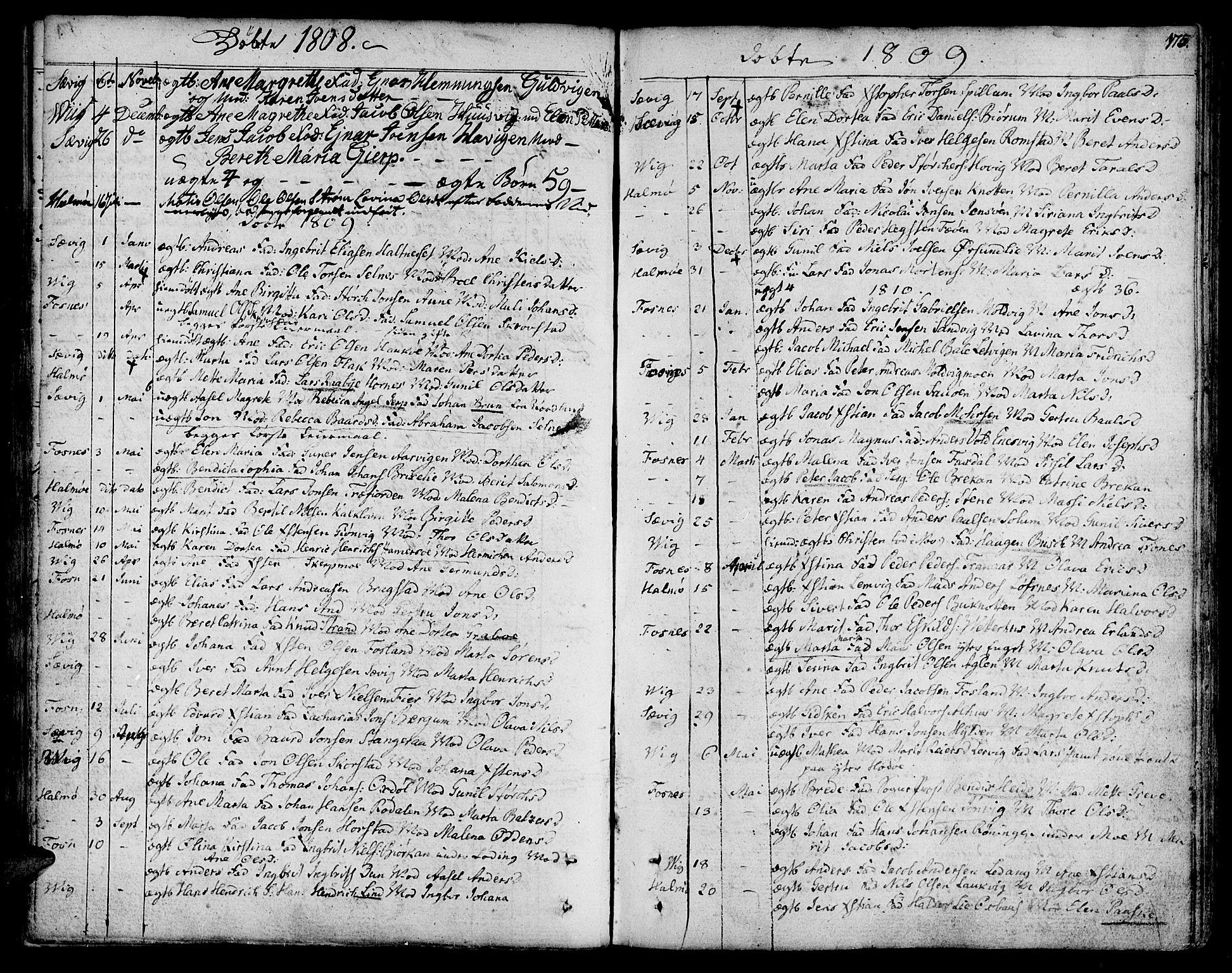 SAT, Ministerialprotokoller, klokkerbøker og fødselsregistre - Nord-Trøndelag, 773/L0608: Ministerialbok nr. 773A02, 1784-1816, s. 175