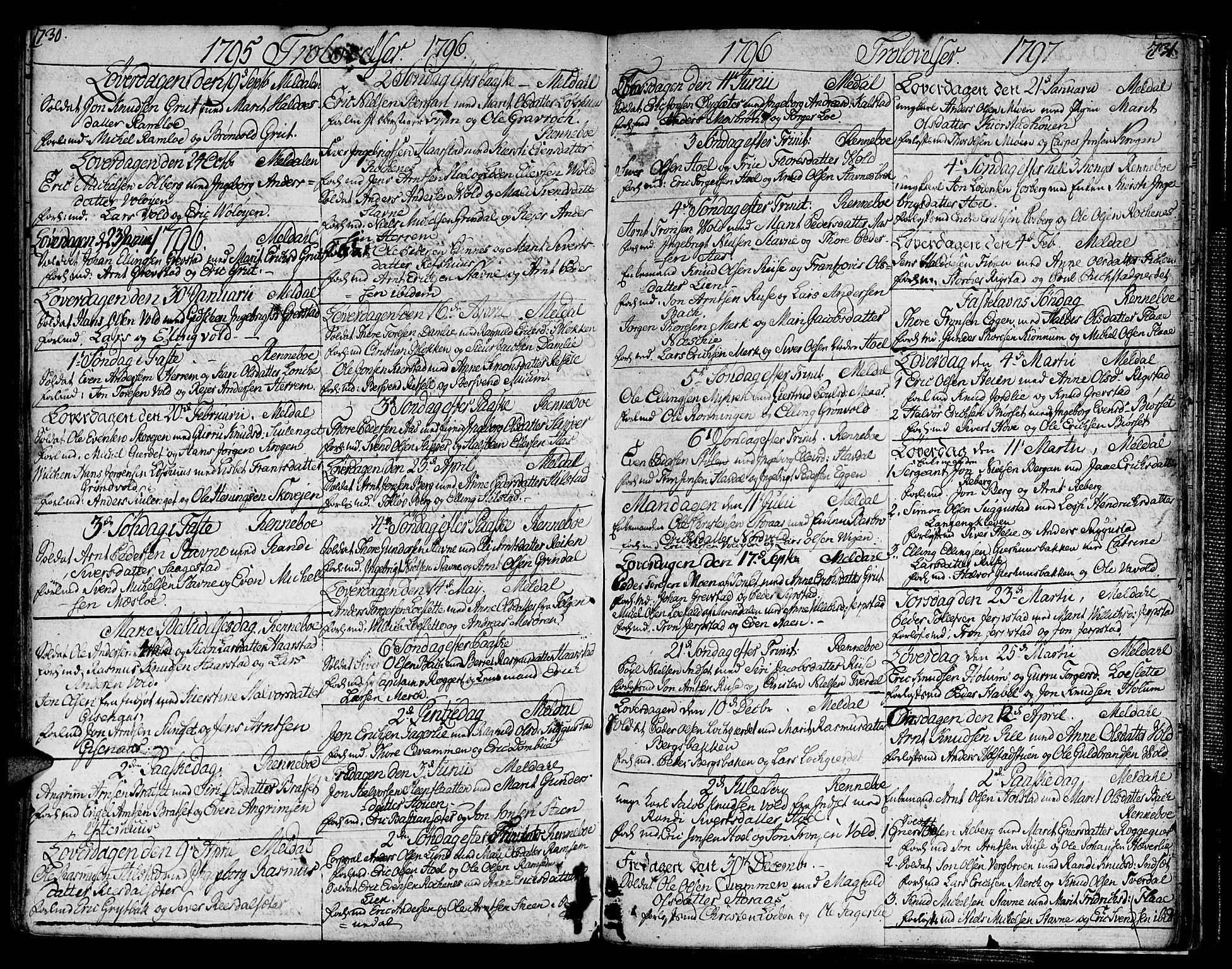 SAT, Ministerialprotokoller, klokkerbøker og fødselsregistre - Sør-Trøndelag, 672/L0852: Ministerialbok nr. 672A05, 1776-1815, s. 730-731
