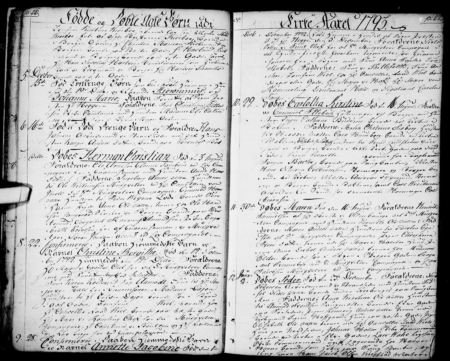 SAO, Halden prestekontor Kirkebøker, F/Fa/L0002: Ministerialbok nr. I 2, 1792-1812, s. 26-27