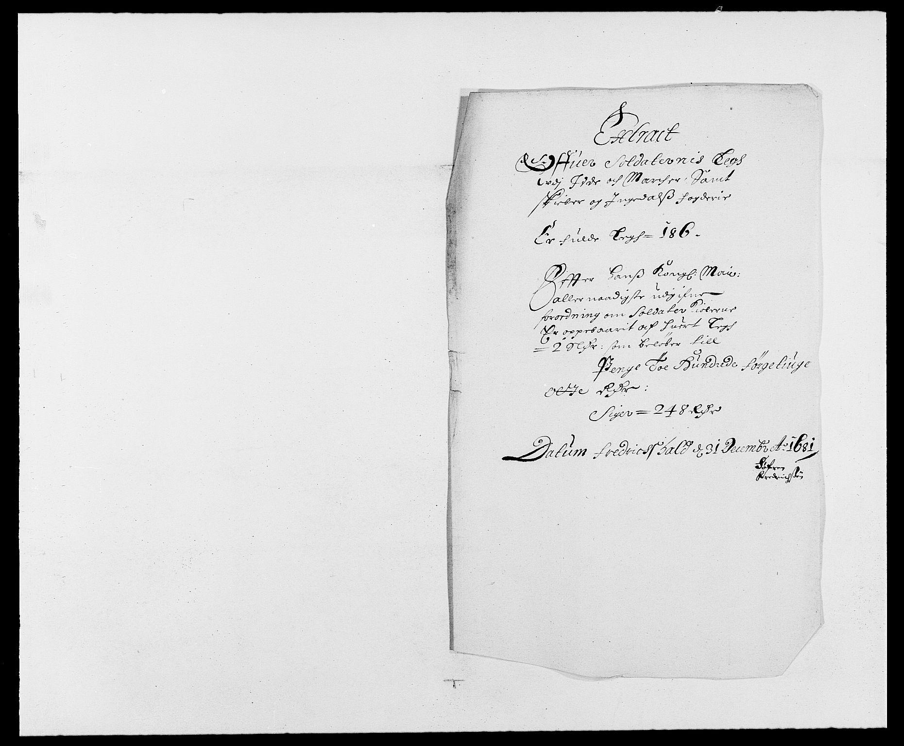 RA, Rentekammeret inntil 1814, Reviderte regnskaper, Fogderegnskap, R01/L0003: Fogderegnskap Idd og Marker, 1678-1681, s. 154