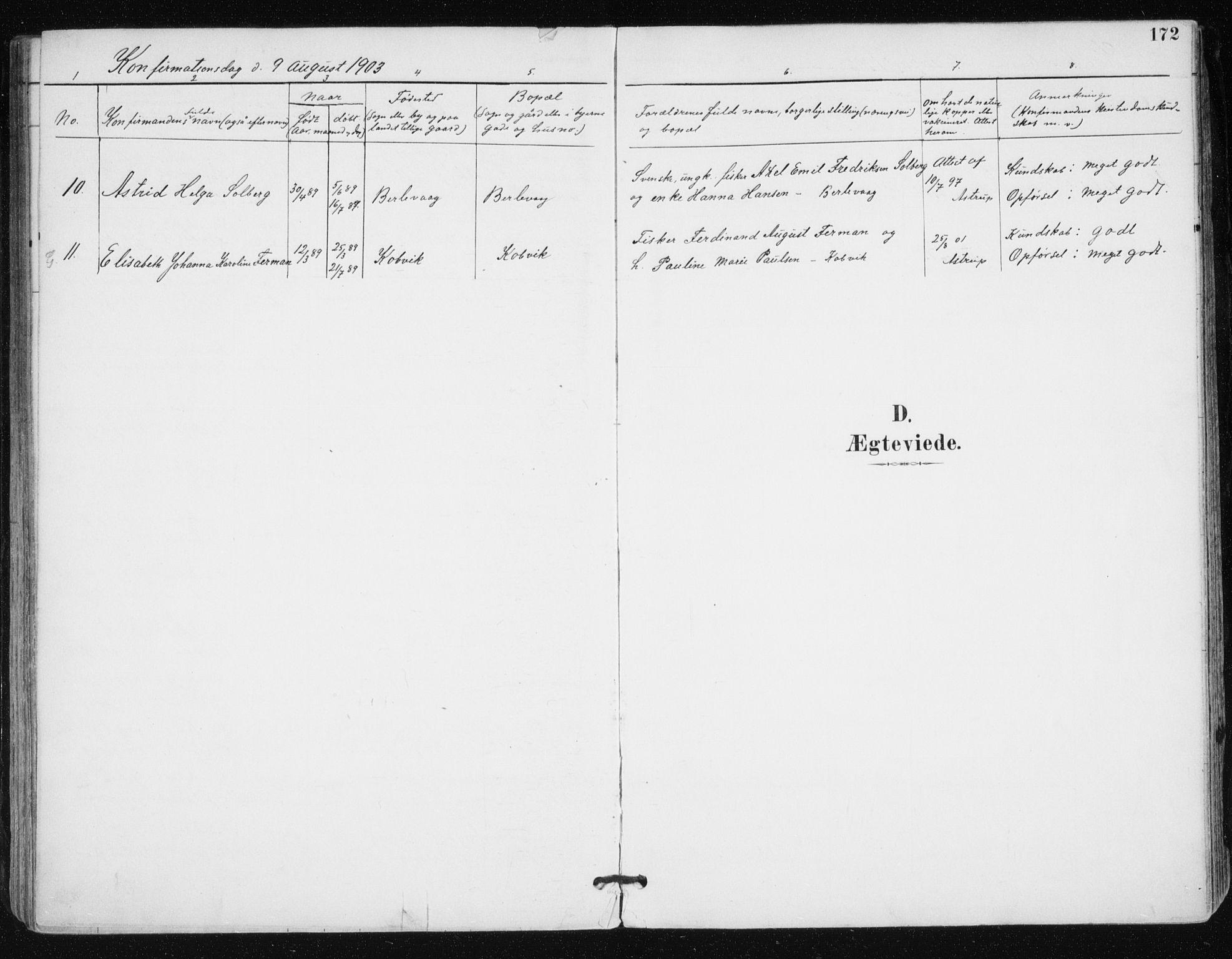 SATØ, Tana sokneprestkontor, H/Ha/L0005kirke: Ministerialbok nr. 5, 1891-1903, s. 172