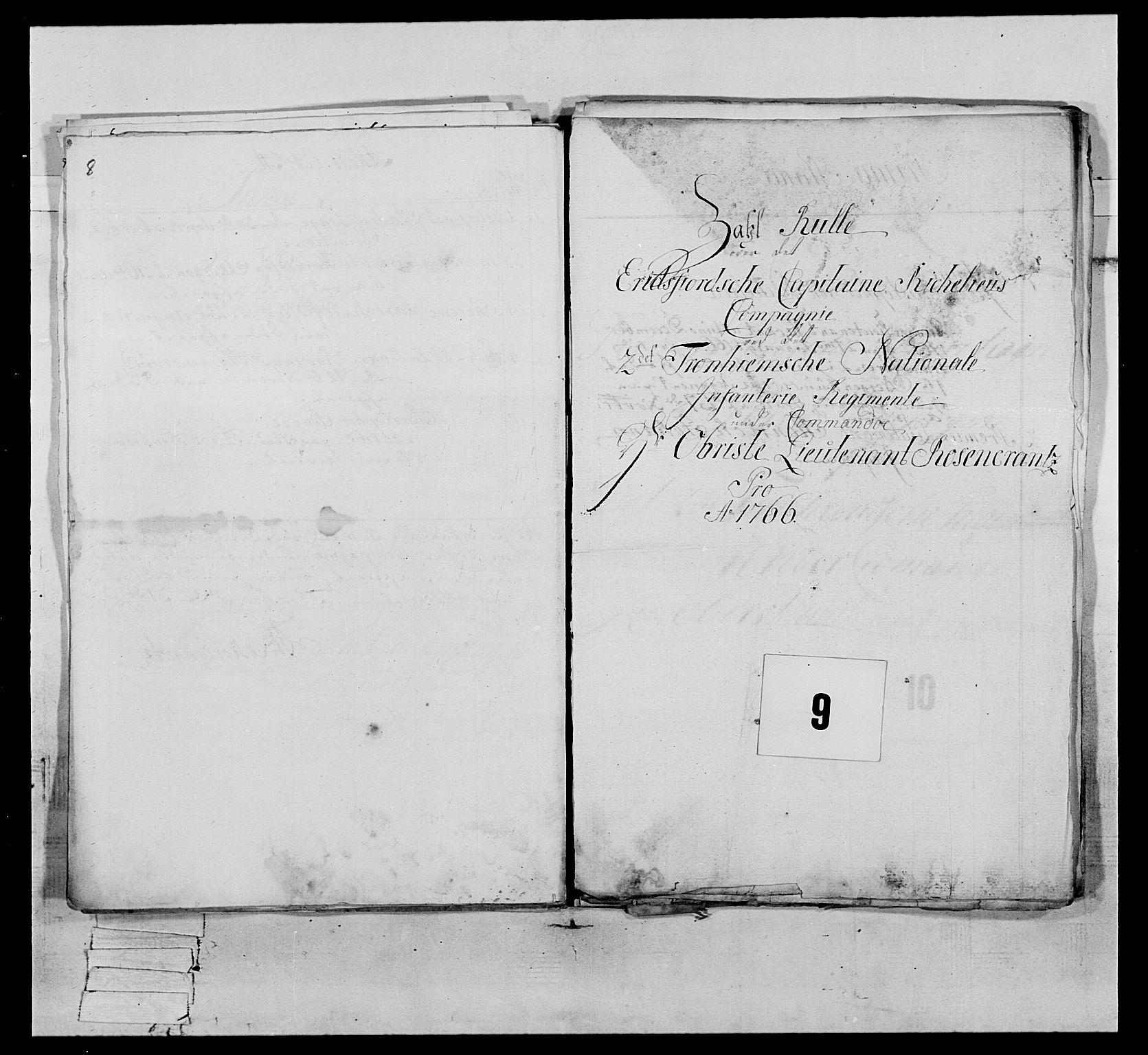 RA, Generalitets- og kommissariatskollegiet, Det kongelige norske kommissariatskollegium, E/Eh/L0076: 2. Trondheimske nasjonale infanteriregiment, 1766-1773, s. 22