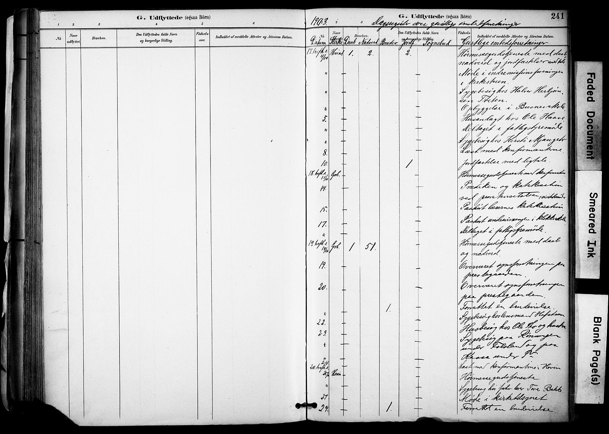 SAKO, Gransherad kirkebøker, F/Fa/L0005: Ministerialbok nr. I 5, 1887-1916, s. 241