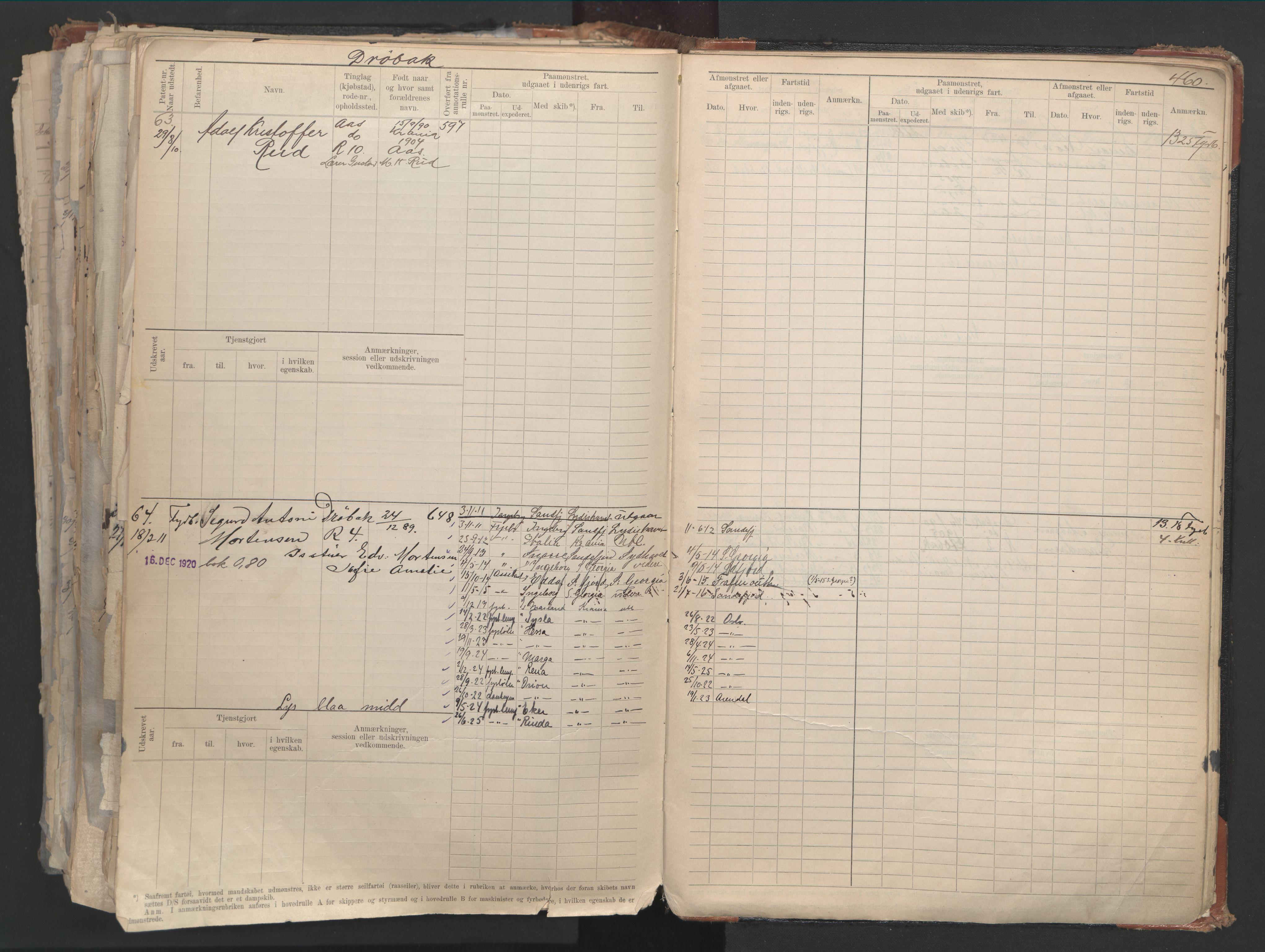 SAO, Oslo sjømannskontor, F/Fd/L0006: B-rulle, 1883, s. 459b-460a