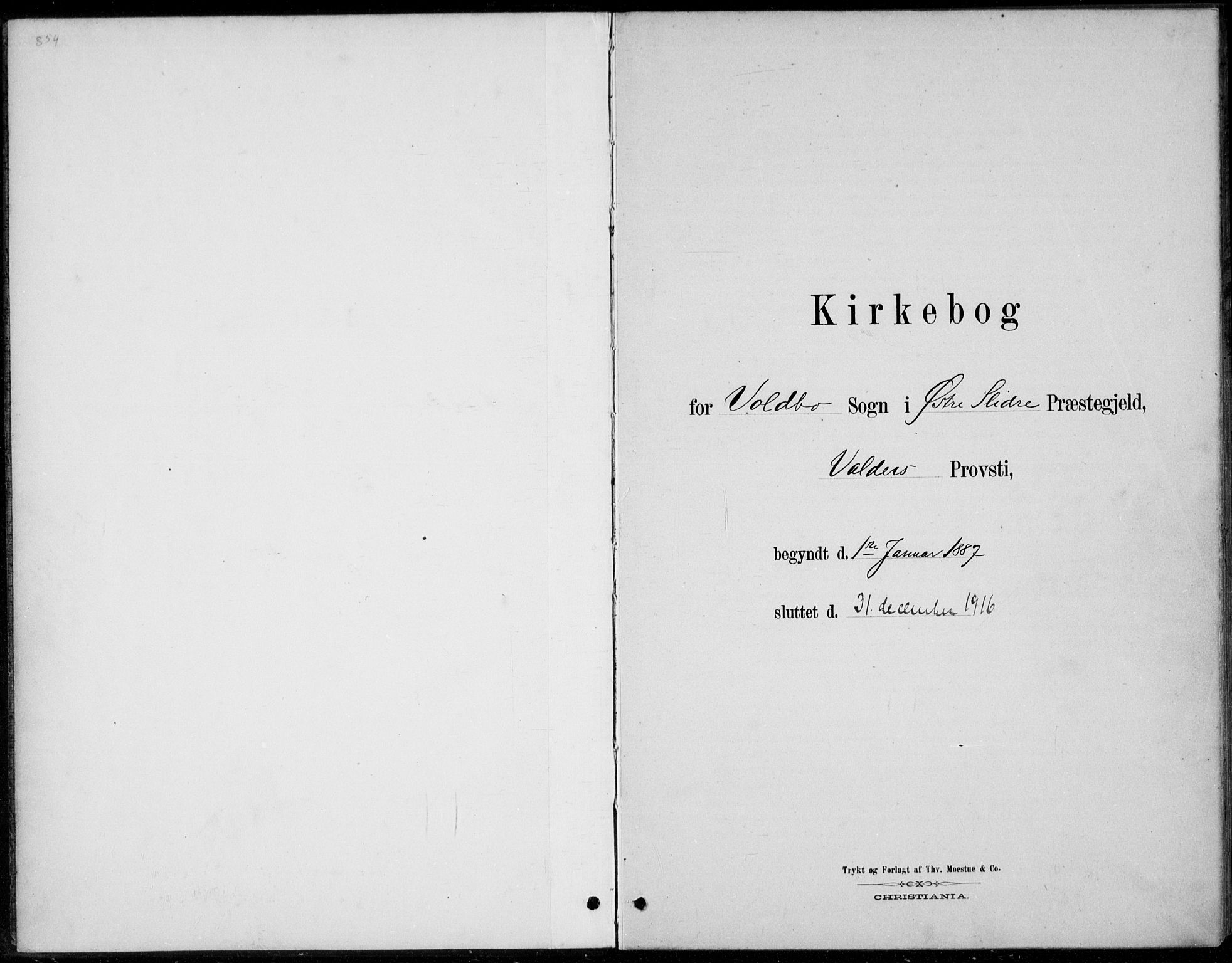 SAH, Øystre Slidre prestekontor, Ministerialbok nr. 5, 1887-1916