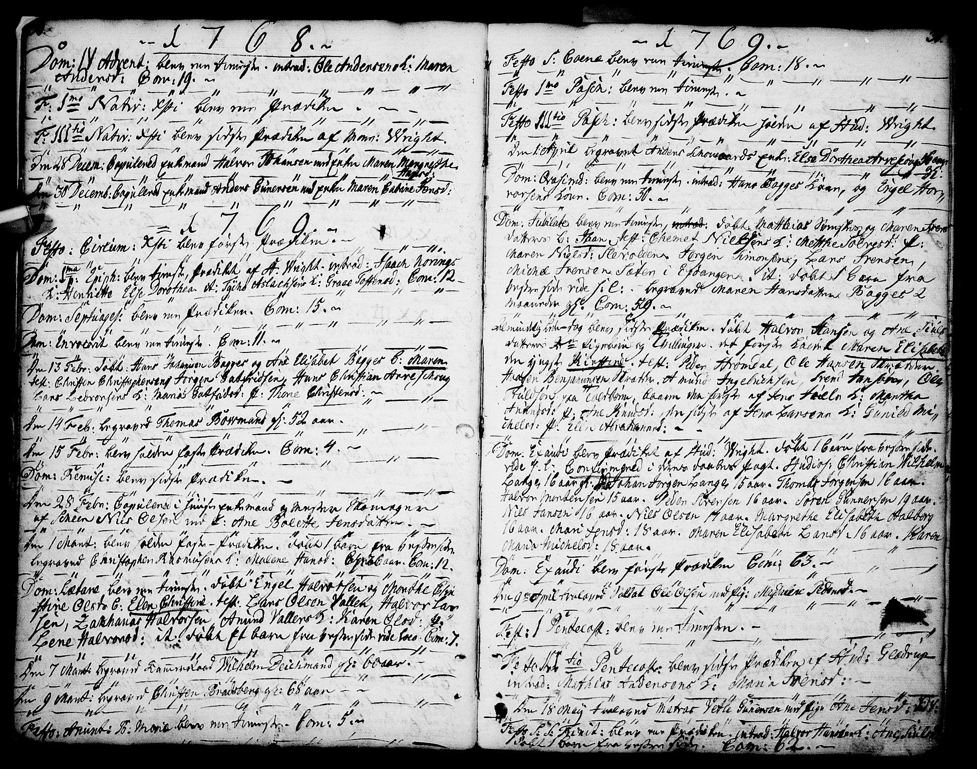 SAKO, Porsgrunn kirkebøker , F/Fa/L0002: Ministerialbok nr. 2, 1764-1814, s. 30-31