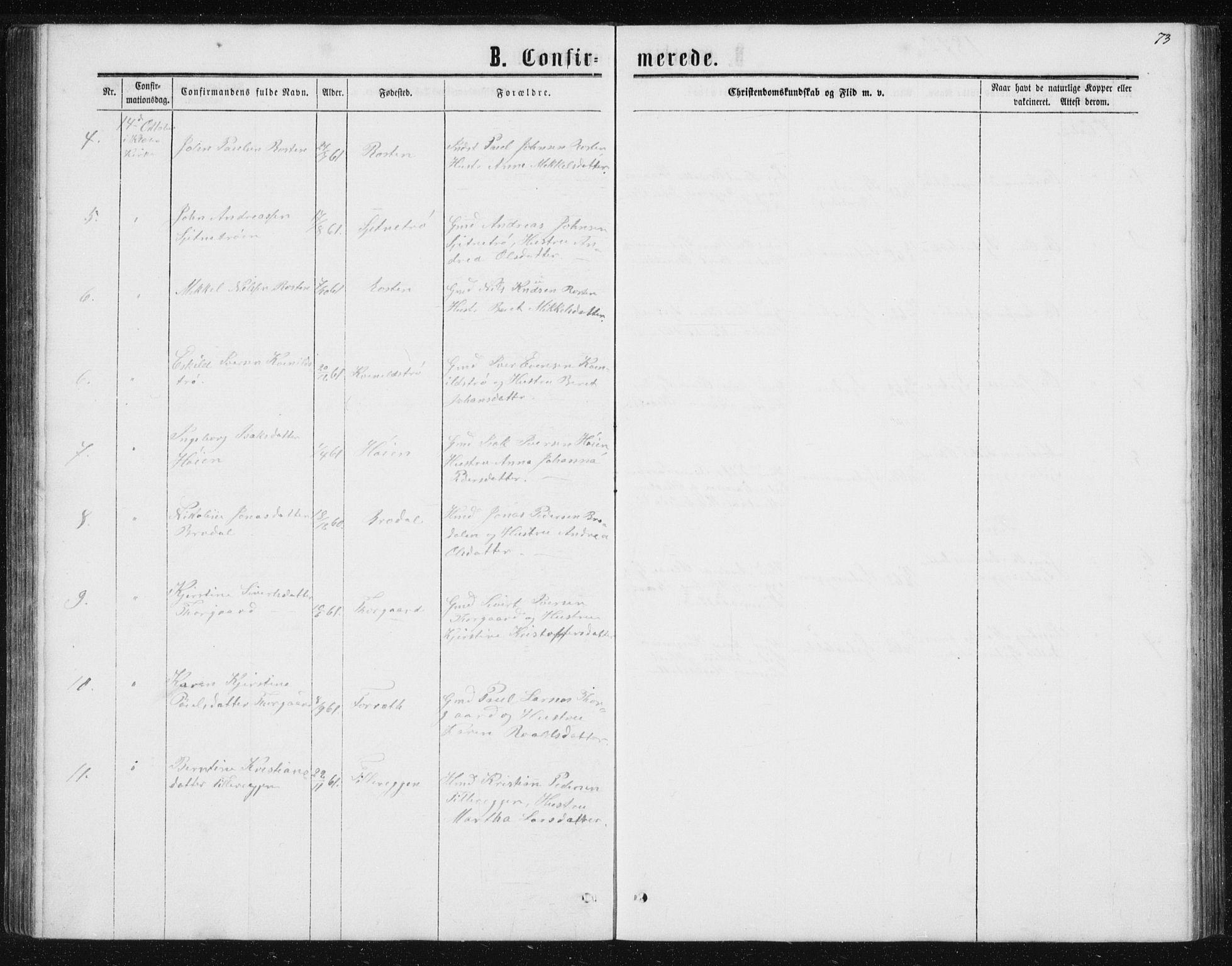 SAT, Ministerialprotokoller, klokkerbøker og fødselsregistre - Sør-Trøndelag, 621/L0459: Klokkerbok nr. 621C02, 1866-1895, s. 73