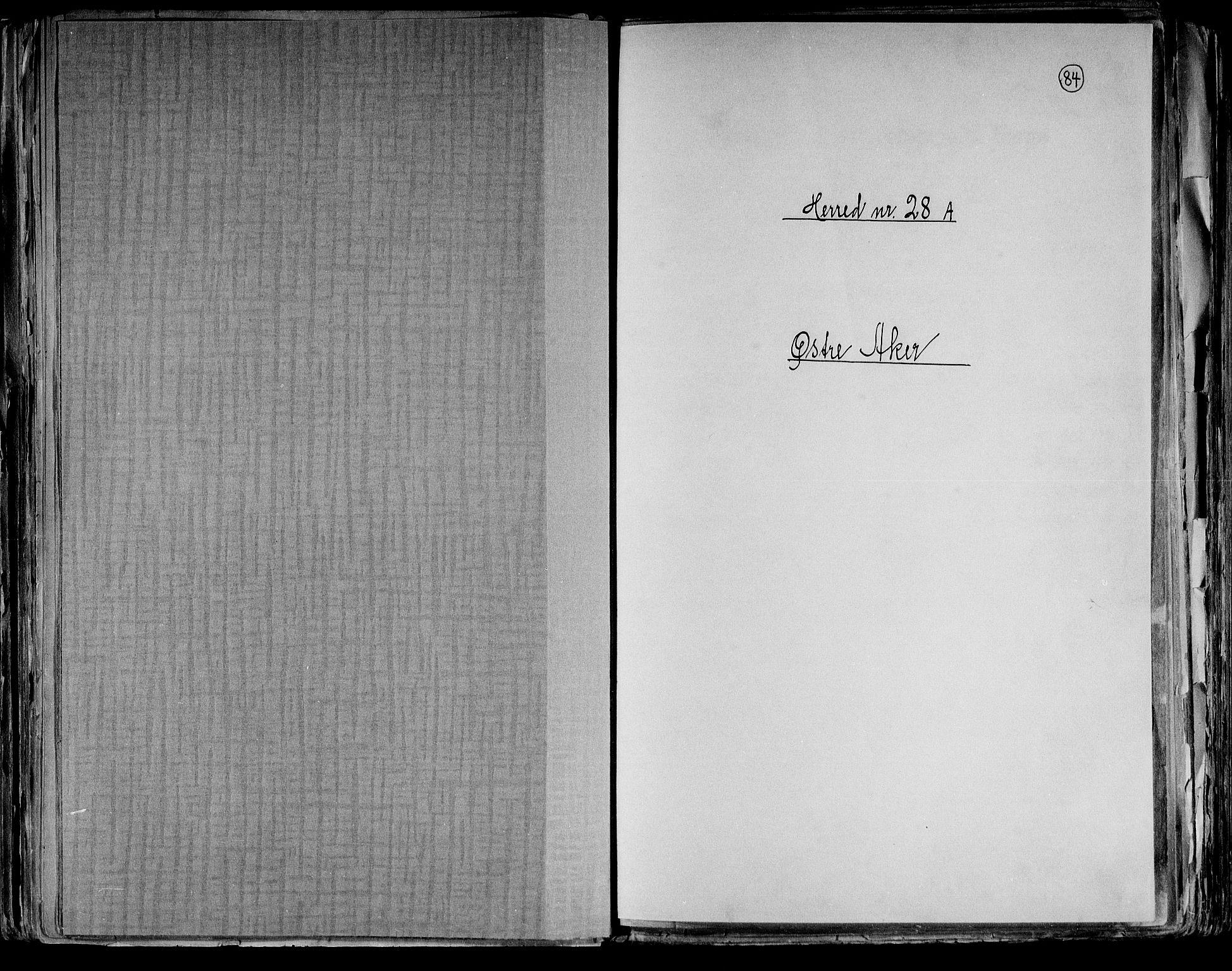 RA, Folketelling 1891 for 0218 Aker herred, 1891, s. 1
