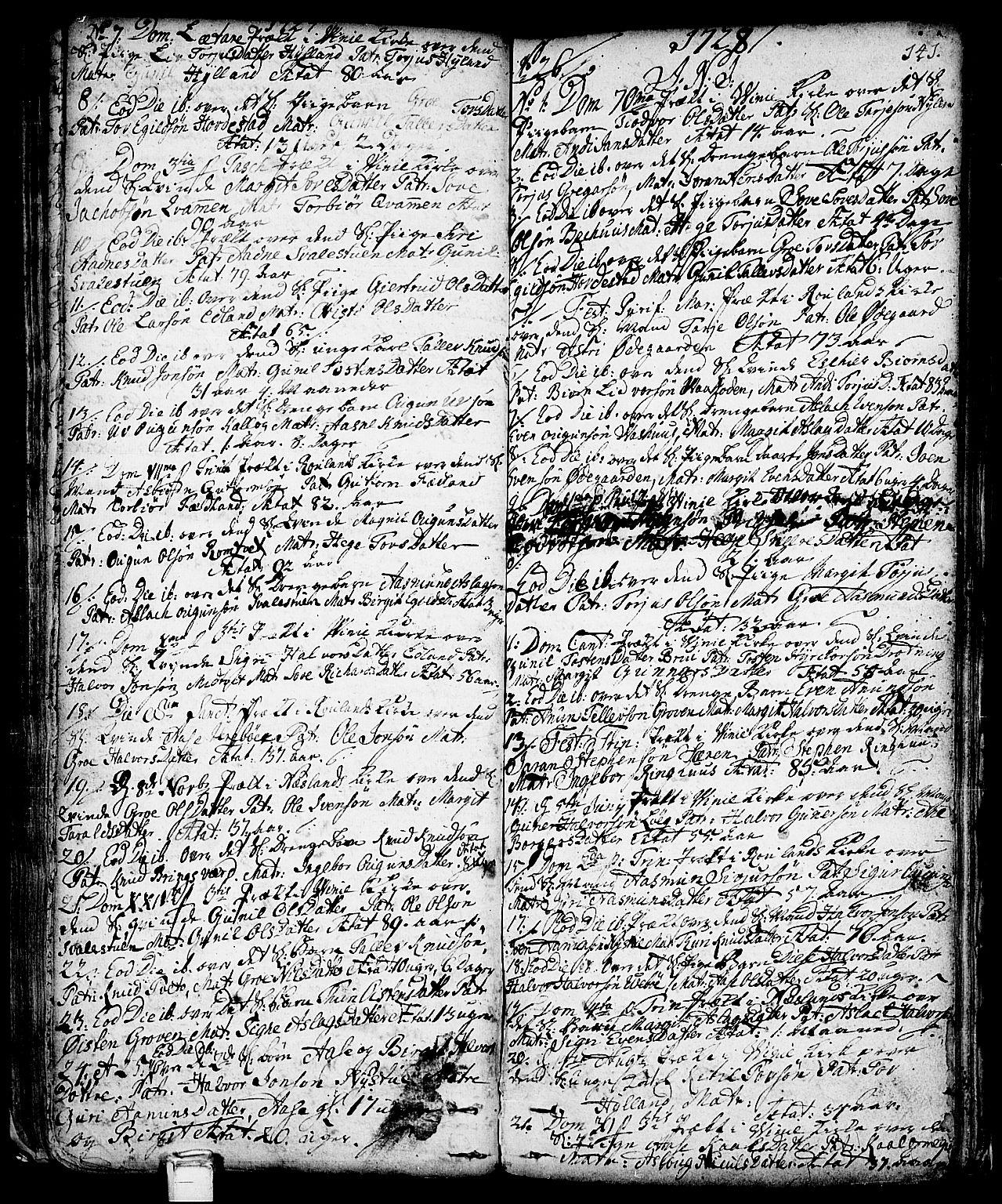 SAKO, Vinje kirkebøker, F/Fa/L0001: Ministerialbok nr. I 1, 1717-1766, s. 141