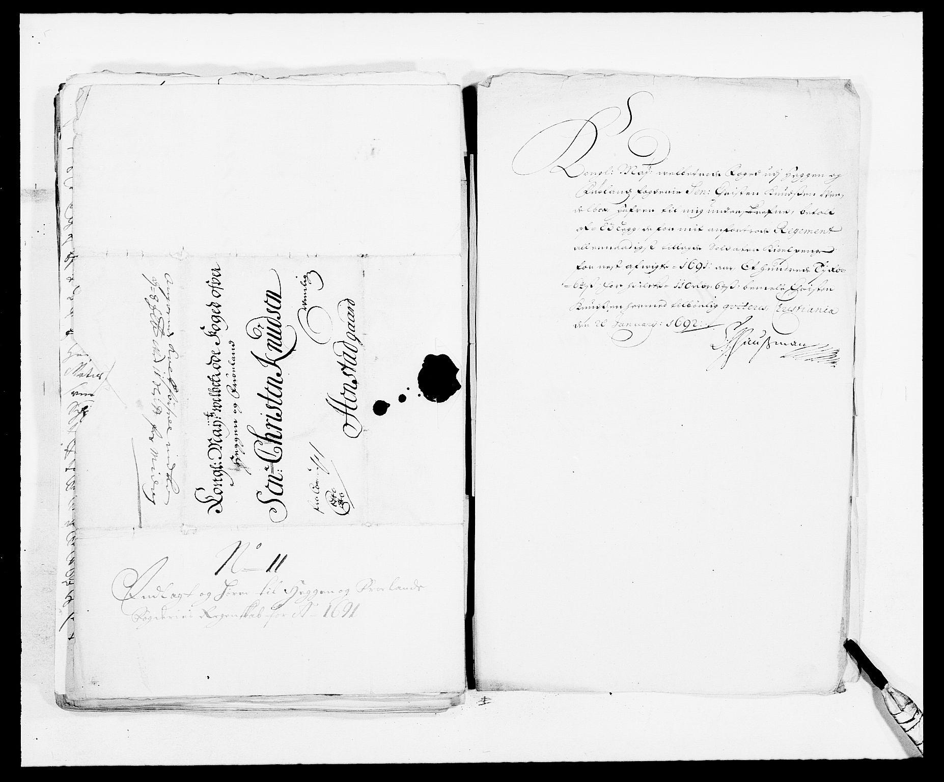 RA, Rentekammeret inntil 1814, Reviderte regnskaper, Fogderegnskap, R06/L0283: Fogderegnskap Heggen og Frøland, 1691-1693, s. 112