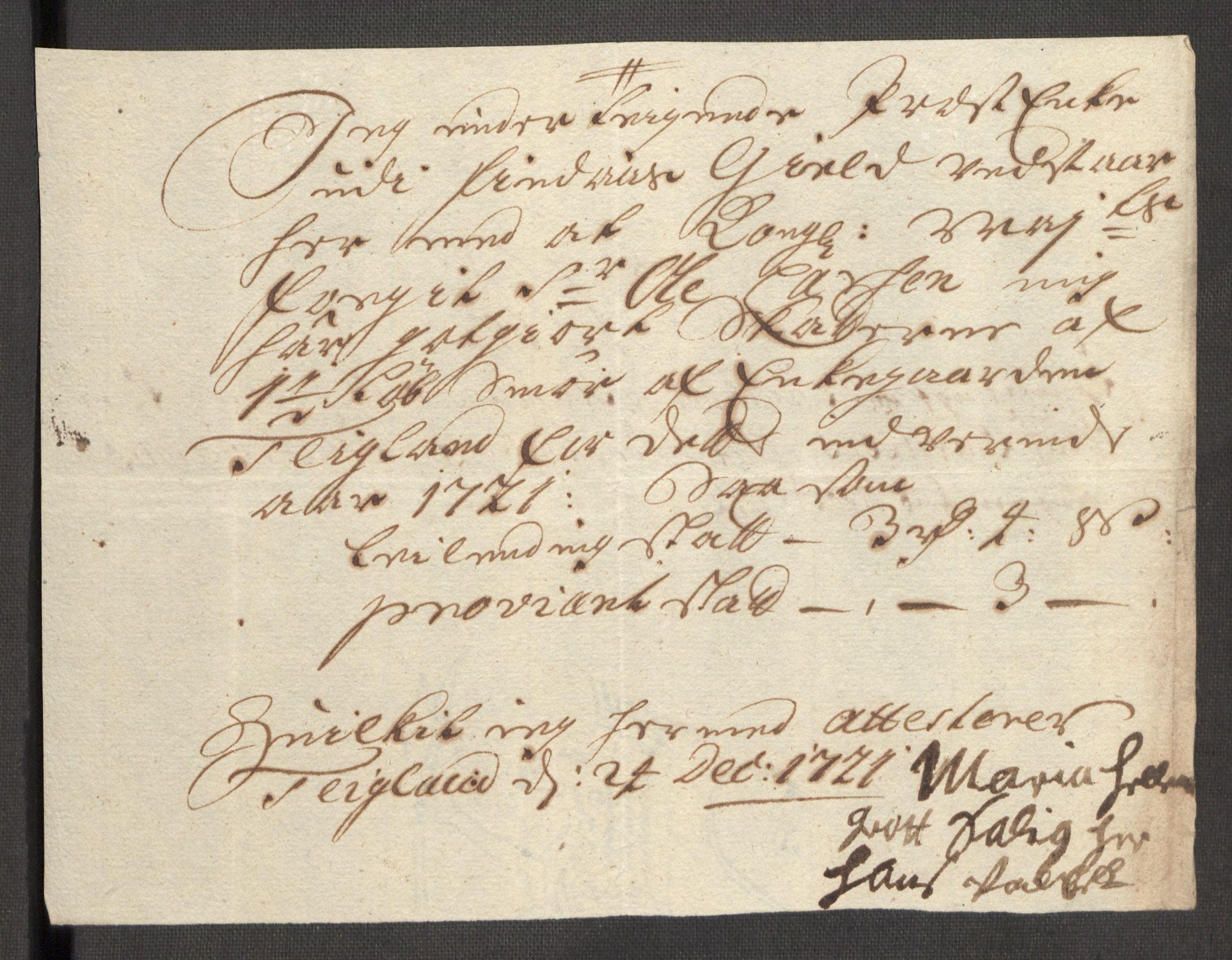 RA, Rentekammeret inntil 1814, Reviderte regnskaper, Fogderegnskap, R48/L3000: Fogderegnskap Sunnhordland og Hardanger, 1721, s. 391