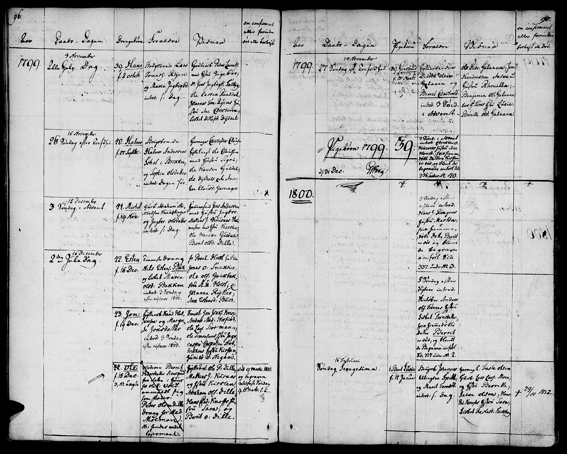 SAT, Ministerialprotokoller, klokkerbøker og fødselsregistre - Sør-Trøndelag, 681/L0927: Ministerialbok nr. 681A05, 1798-1808, s. 96-97