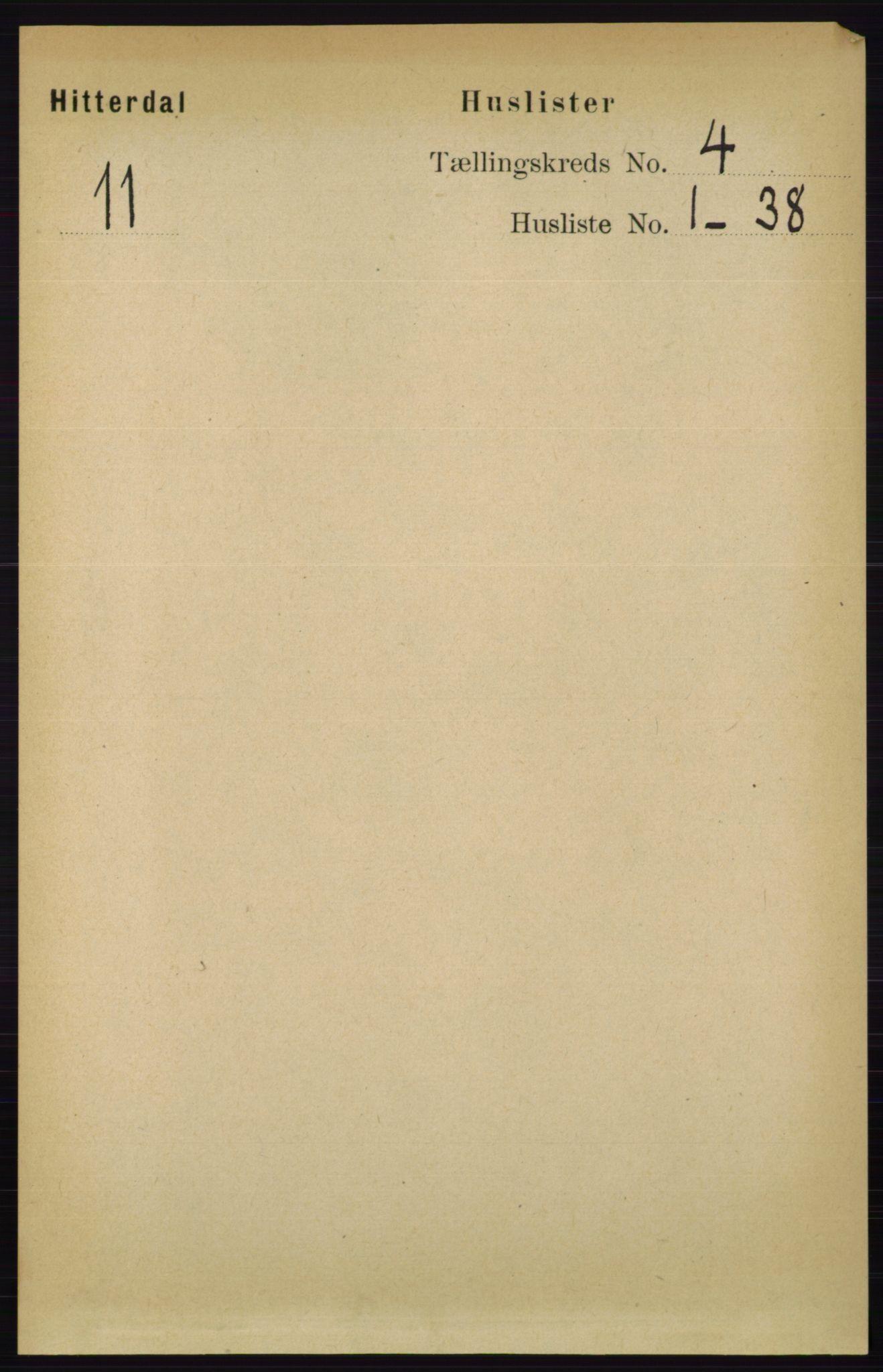 RA, Folketelling 1891 for 0823 Heddal herred, 1891, s. 1631