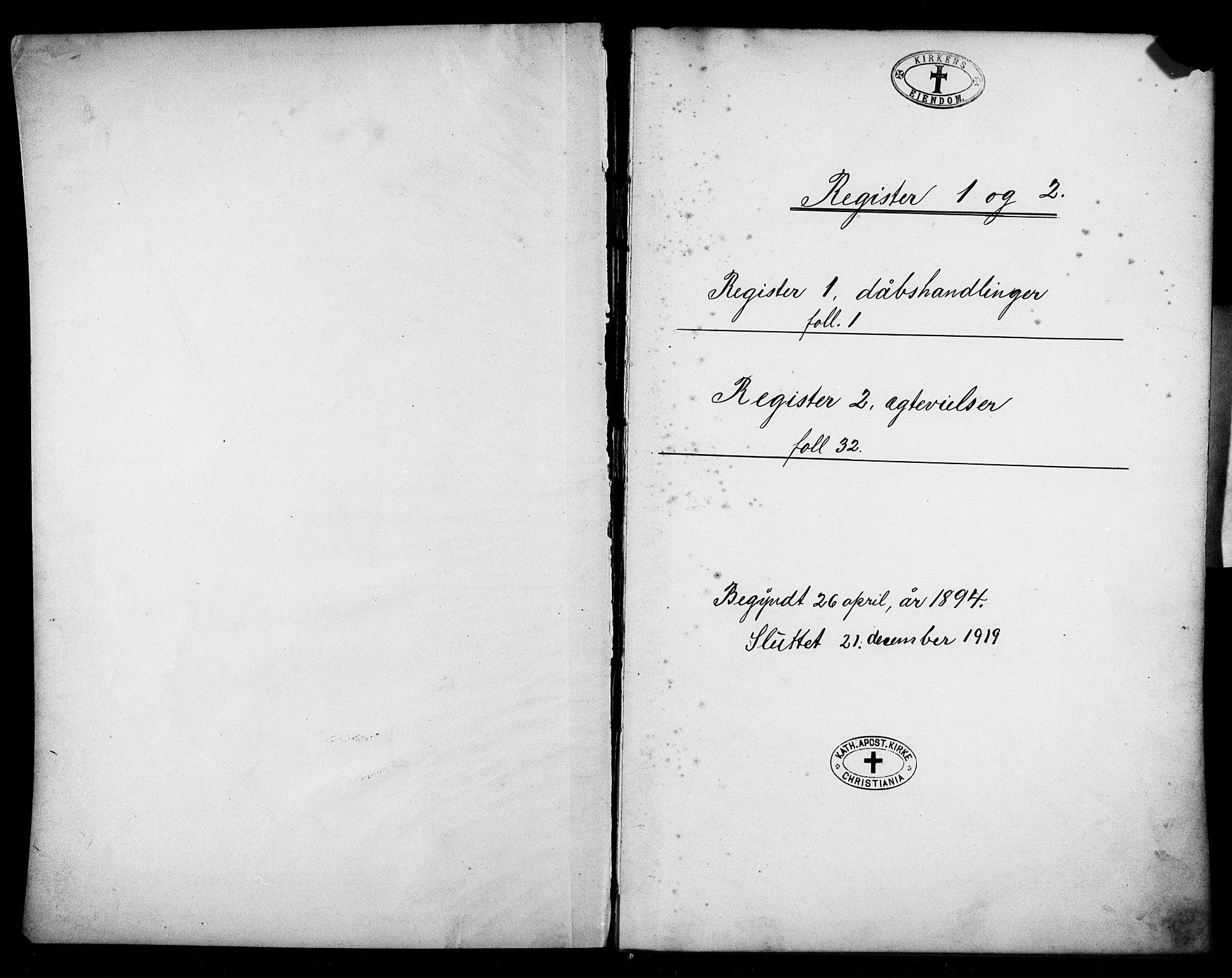 SAO, Den katolsk apostoliske menighet i Oslo , F/Fb/L0002: Dissenterprotokoll nr. 2, 1894-1919