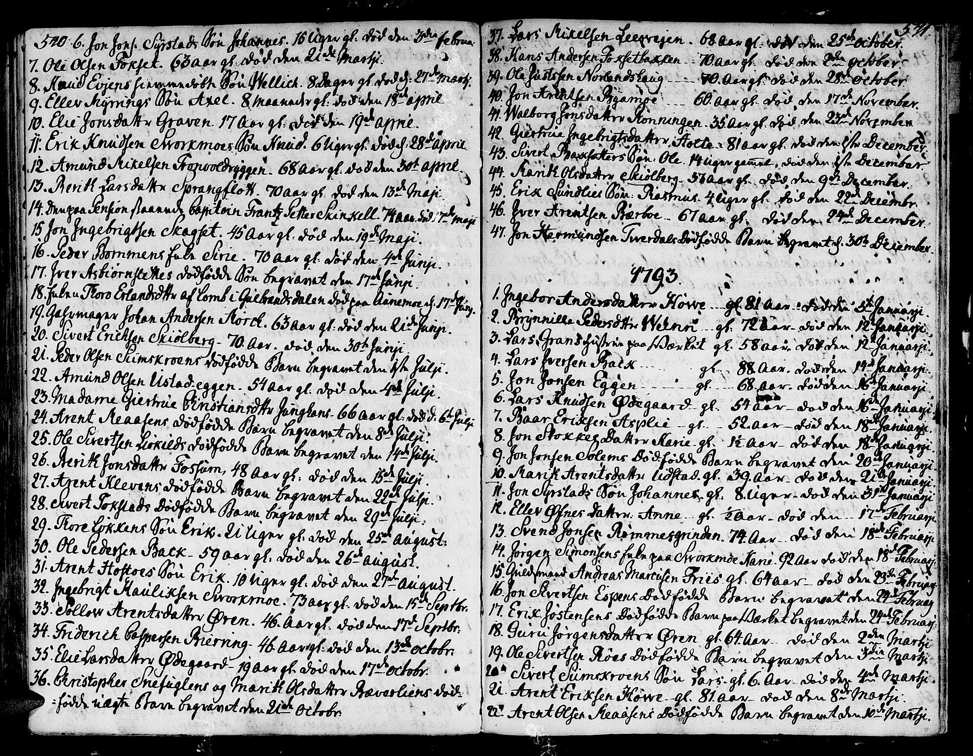SAT, Ministerialprotokoller, klokkerbøker og fødselsregistre - Sør-Trøndelag, 668/L0802: Ministerialbok nr. 668A02, 1776-1799, s. 540-541