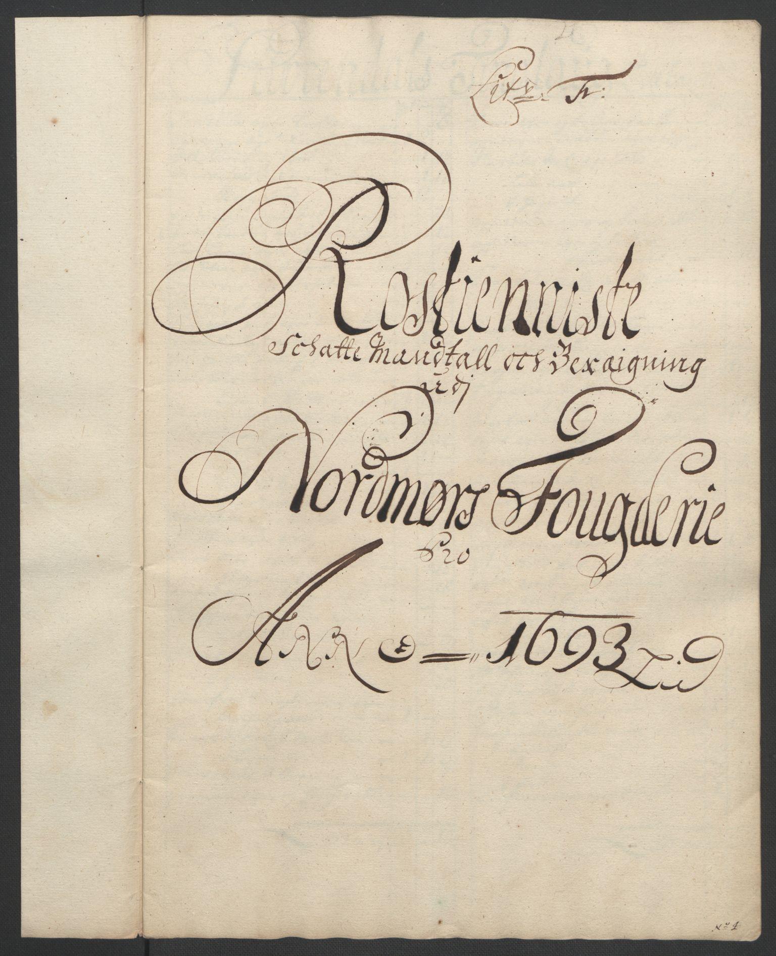 RA, Rentekammeret inntil 1814, Reviderte regnskaper, Fogderegnskap, R56/L3735: Fogderegnskap Nordmøre, 1692-1693, s. 353
