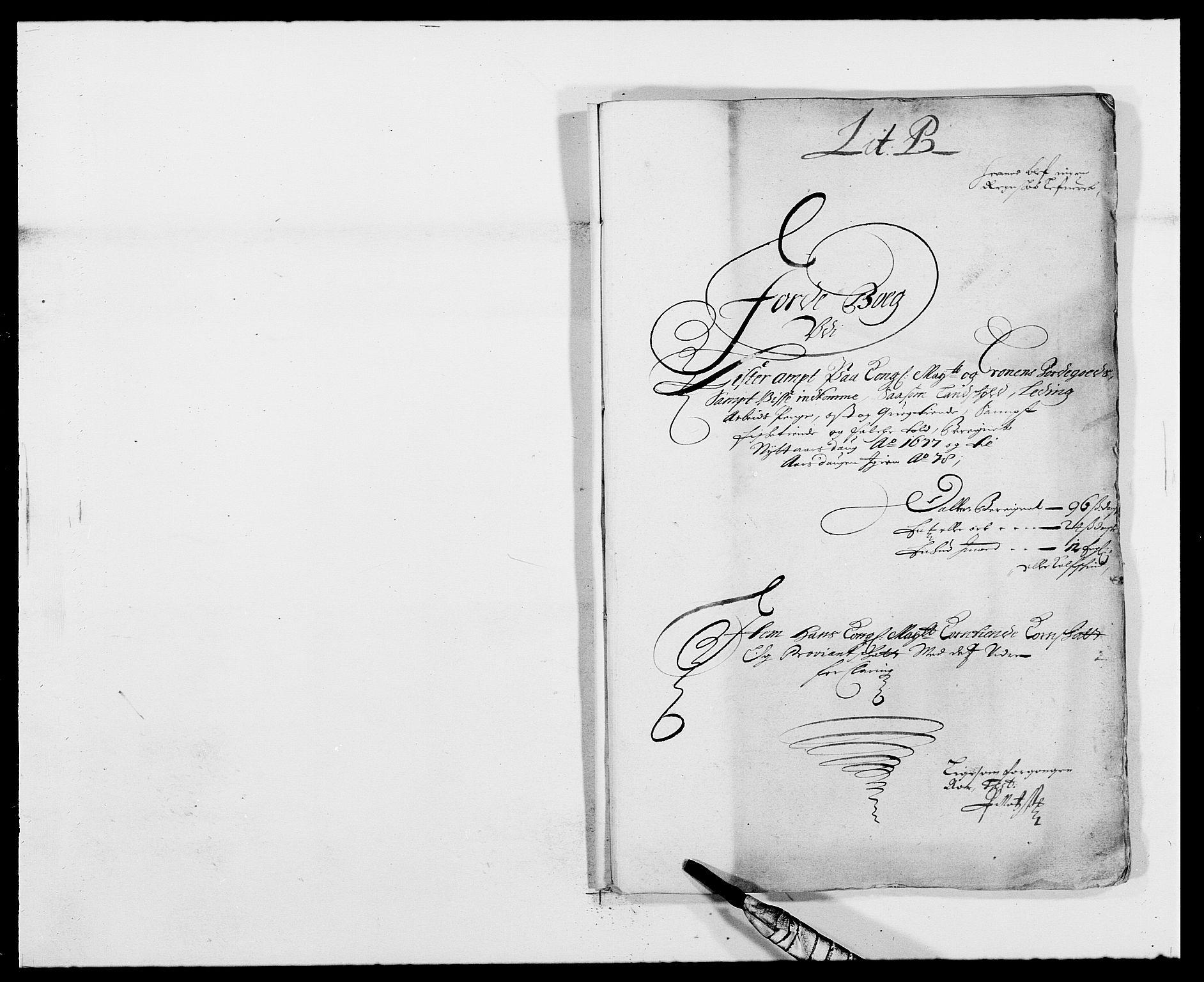 RA, Rentekammeret inntil 1814, Reviderte regnskaper, Fogderegnskap, R41/L2530: Fogderegnskap Lista, 1677-1679, s. 1