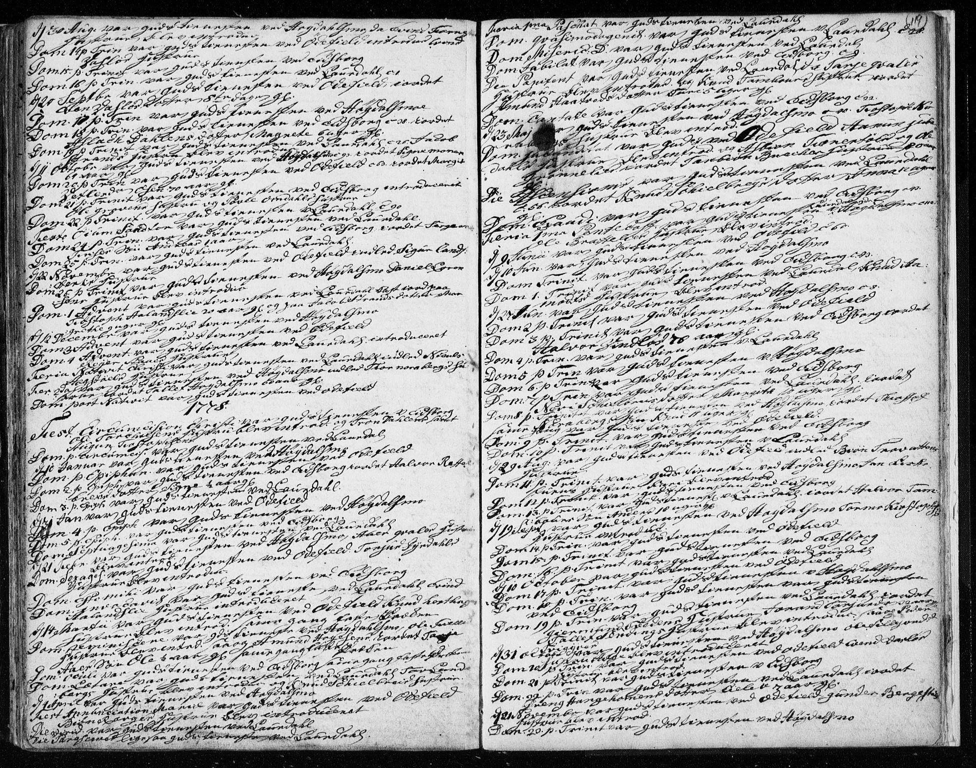 SAKO, Lårdal kirkebøker, F/Fa/L0003: Ministerialbok nr. I 3, 1754-1790, s. 119