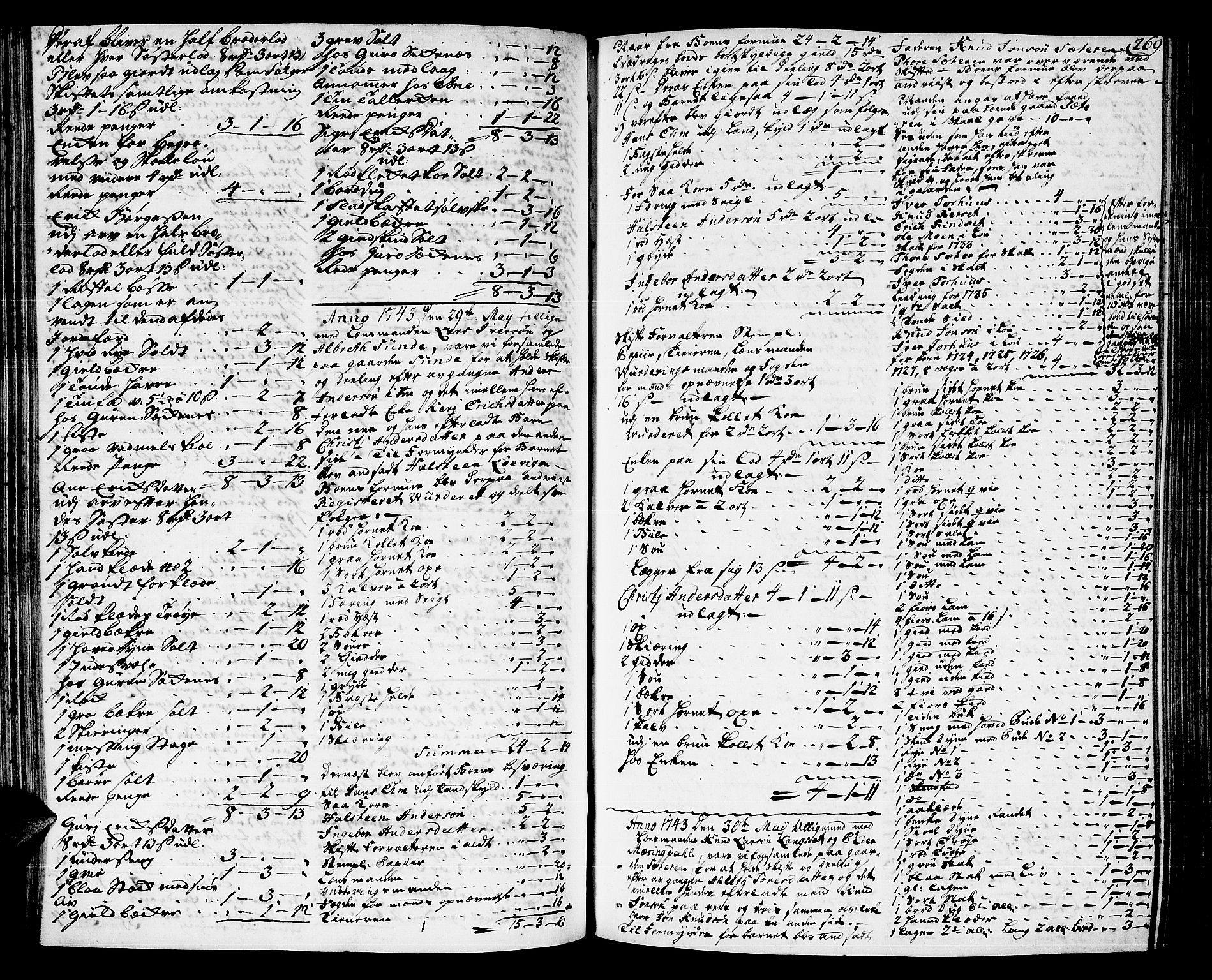 SAT, Romsdal sorenskriveri, 3/3A/L0007: Skifteprotokoll, 1740-1751, s. 268b-269a