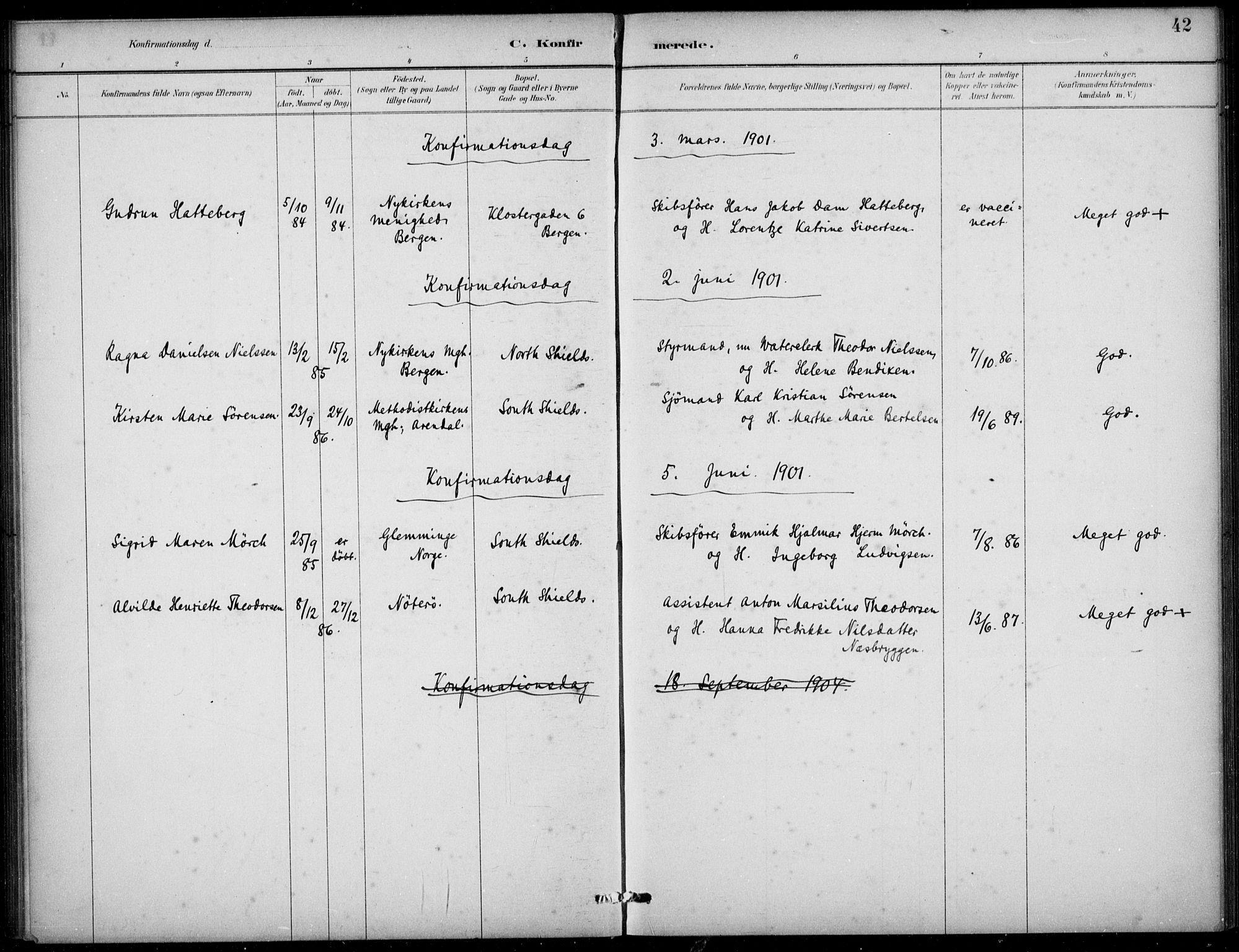 SAB, Den Norske Sjømannsmisjon i utlandet*, Ministerialbok nr. A 2, 1883-1936, s. 42