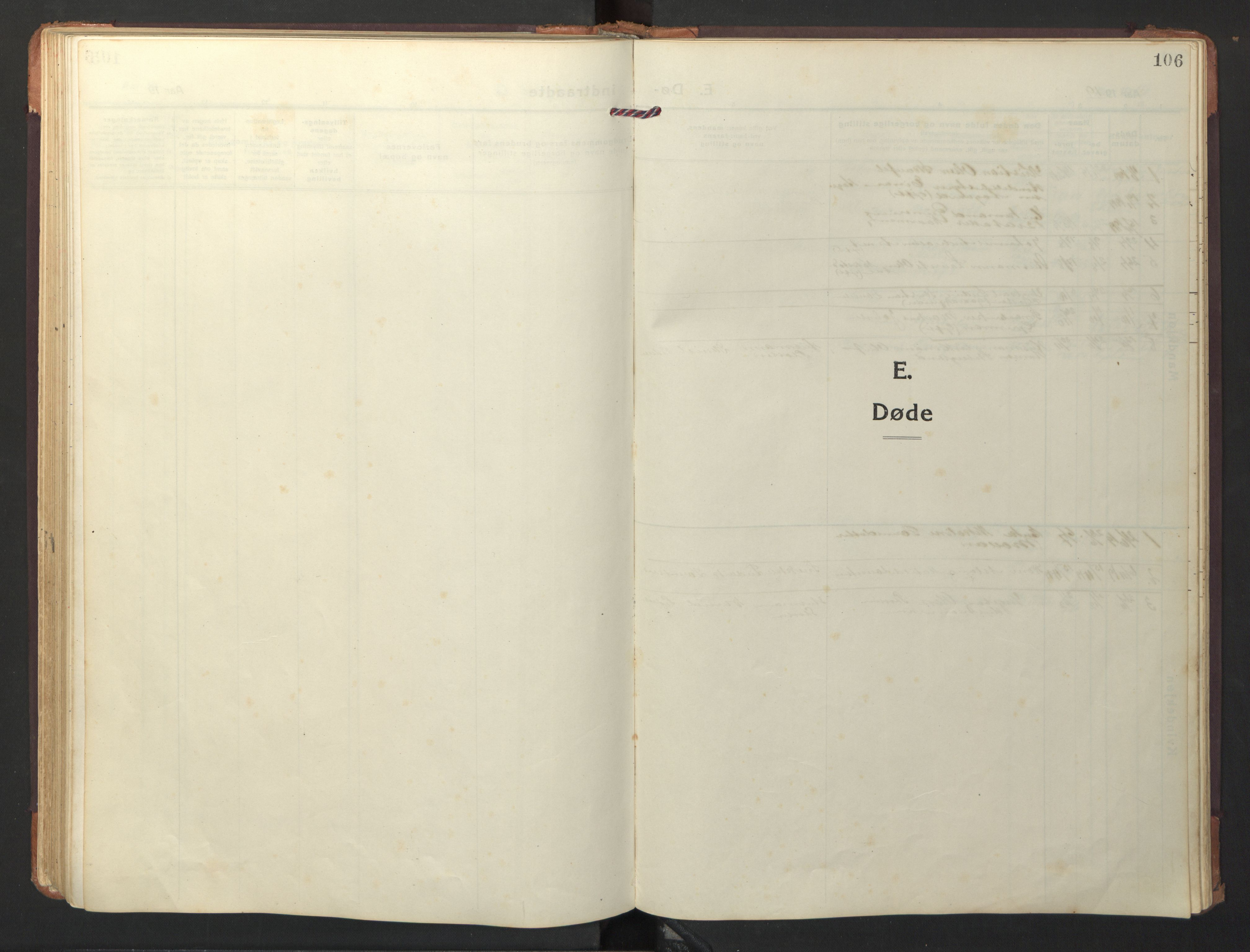 SAT, Ministerialprotokoller, klokkerbøker og fødselsregistre - Nord-Trøndelag, 733/L0328: Klokkerbok nr. 733C03, 1919-1966, s. 106