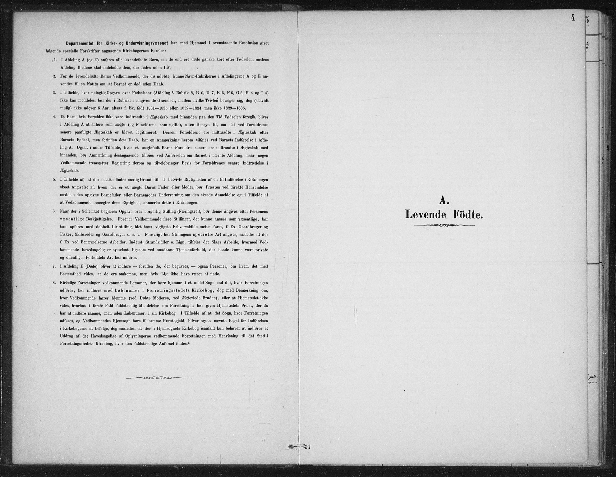 SAB, Gloppen sokneprestembete, H/Haa/Haad/L0001: Ministerialbok nr. D  1, 1885-1910, s. 4