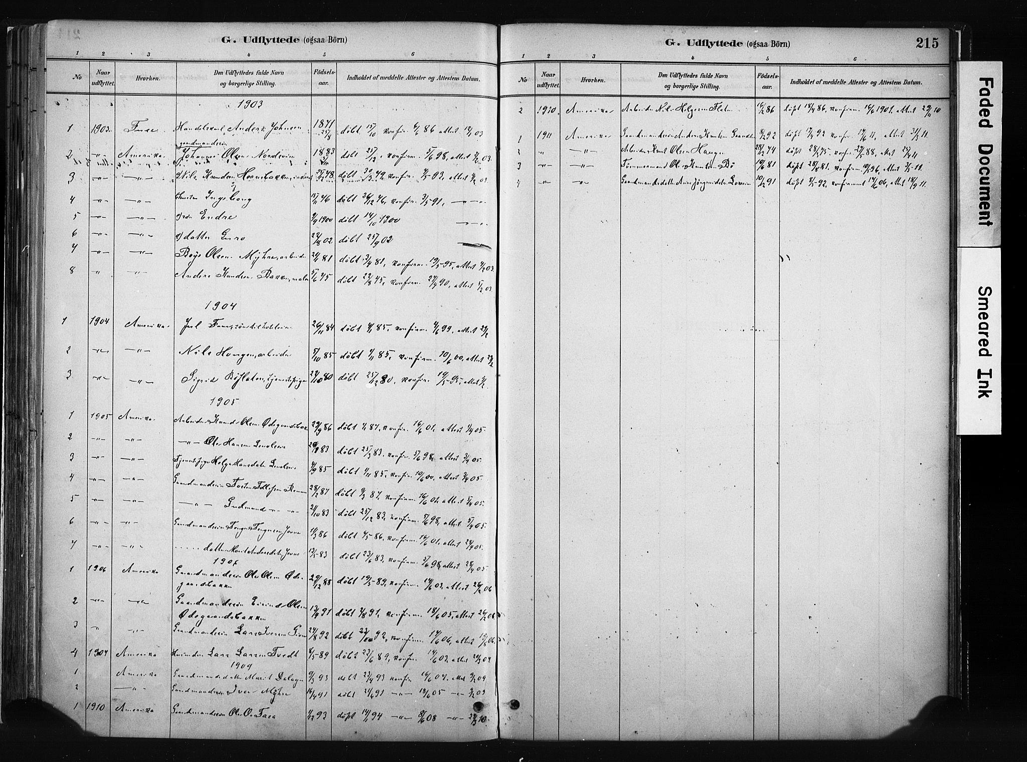 SAH, Vang prestekontor, Valdres, Ministerialbok nr. 8, 1882-1910, s. 215