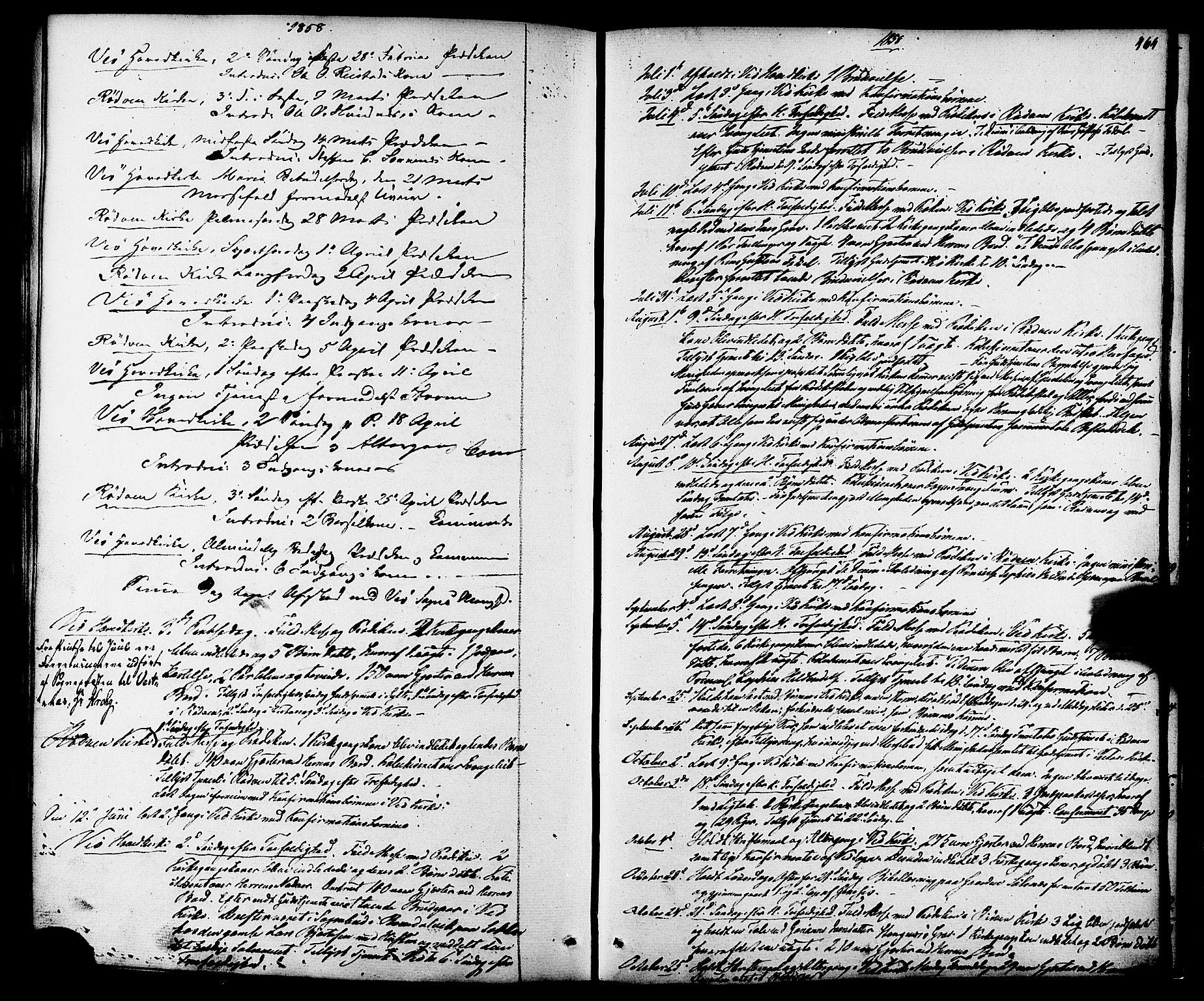 SAT, Ministerialprotokoller, klokkerbøker og fødselsregistre - Møre og Romsdal, 547/L0603: Ministerialbok nr. 547A05, 1846-1877, s. 464