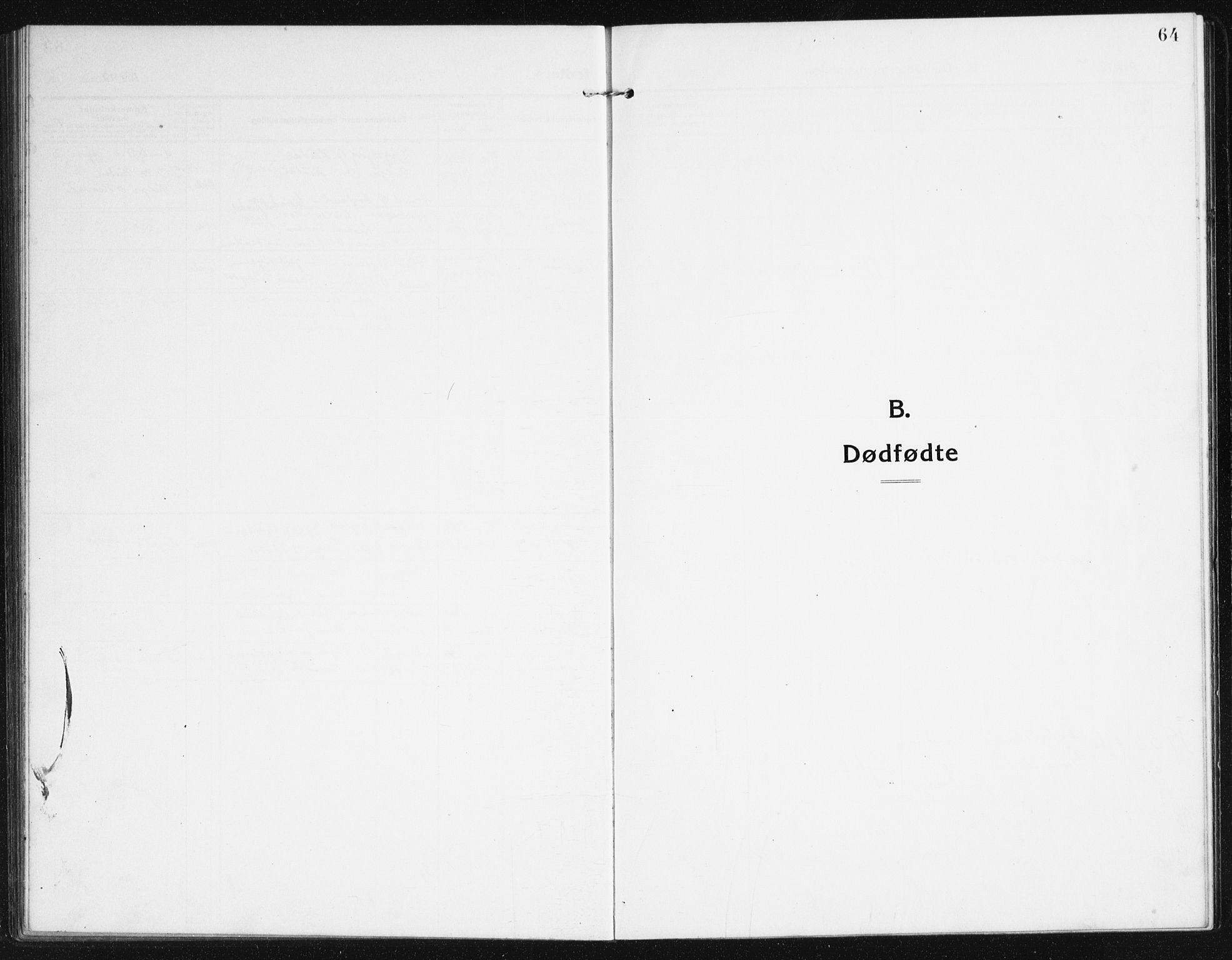 SAK, Valle sokneprestkontor, F/Fb/Fba/L0004: Klokkerbok nr. B 4, 1917-1944, s. 64