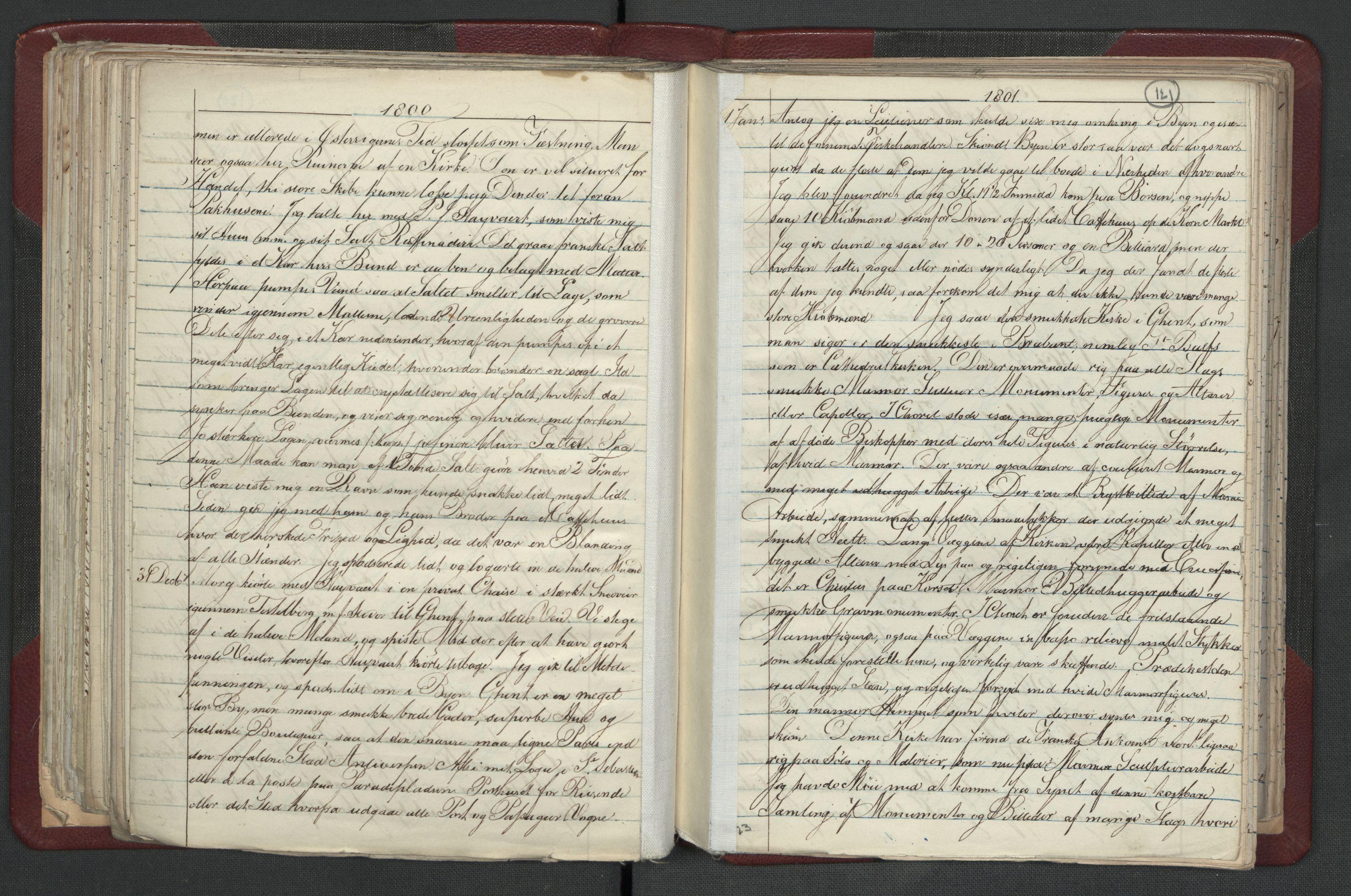RA, Meltzer, Fredrik, F/L0001: Dagbok for årene 1796-1808, 1811, 1817, 1796-1817, s. 120b-121a