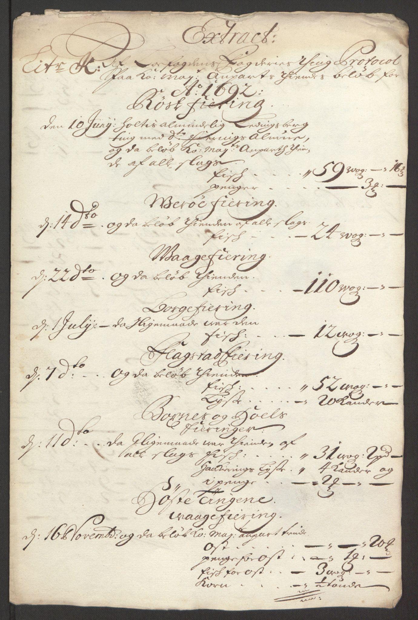 RA, Rentekammeret inntil 1814, Reviderte regnskaper, Fogderegnskap, R67/L4675: Fogderegnskap Vesterålen, Andenes og Lofoten, 1691-1693, s. 199