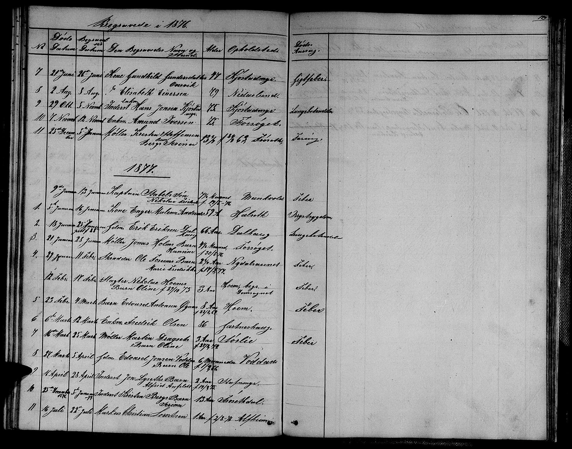 SAT, Ministerialprotokoller, klokkerbøker og fødselsregistre - Sør-Trøndelag, 611/L0353: Klokkerbok nr. 611C01, 1854-1881, s. 129