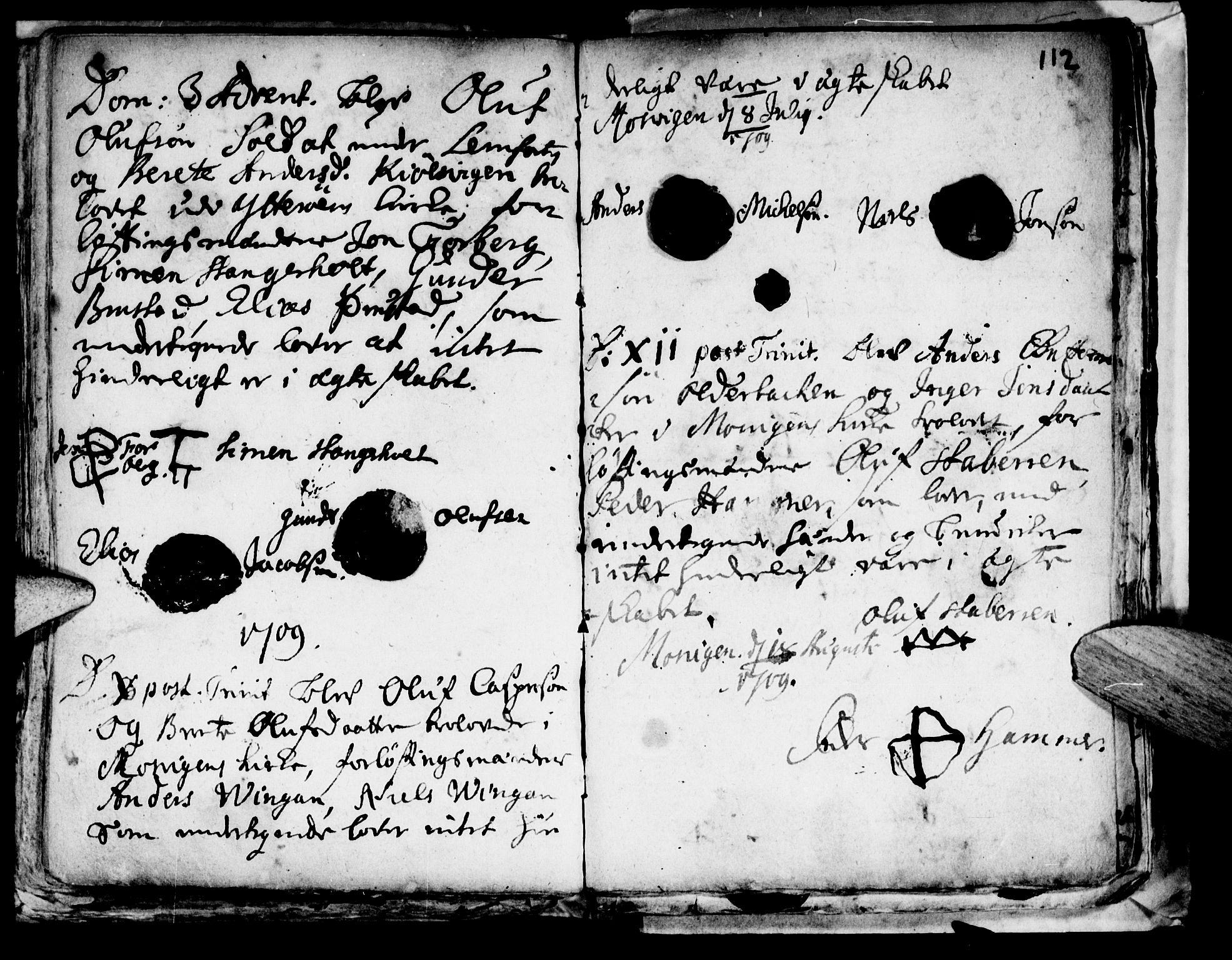 SAT, Ministerialprotokoller, klokkerbøker og fødselsregistre - Nord-Trøndelag, 722/L0214: Ministerialbok nr. 722A01, 1692-1718, s. 112