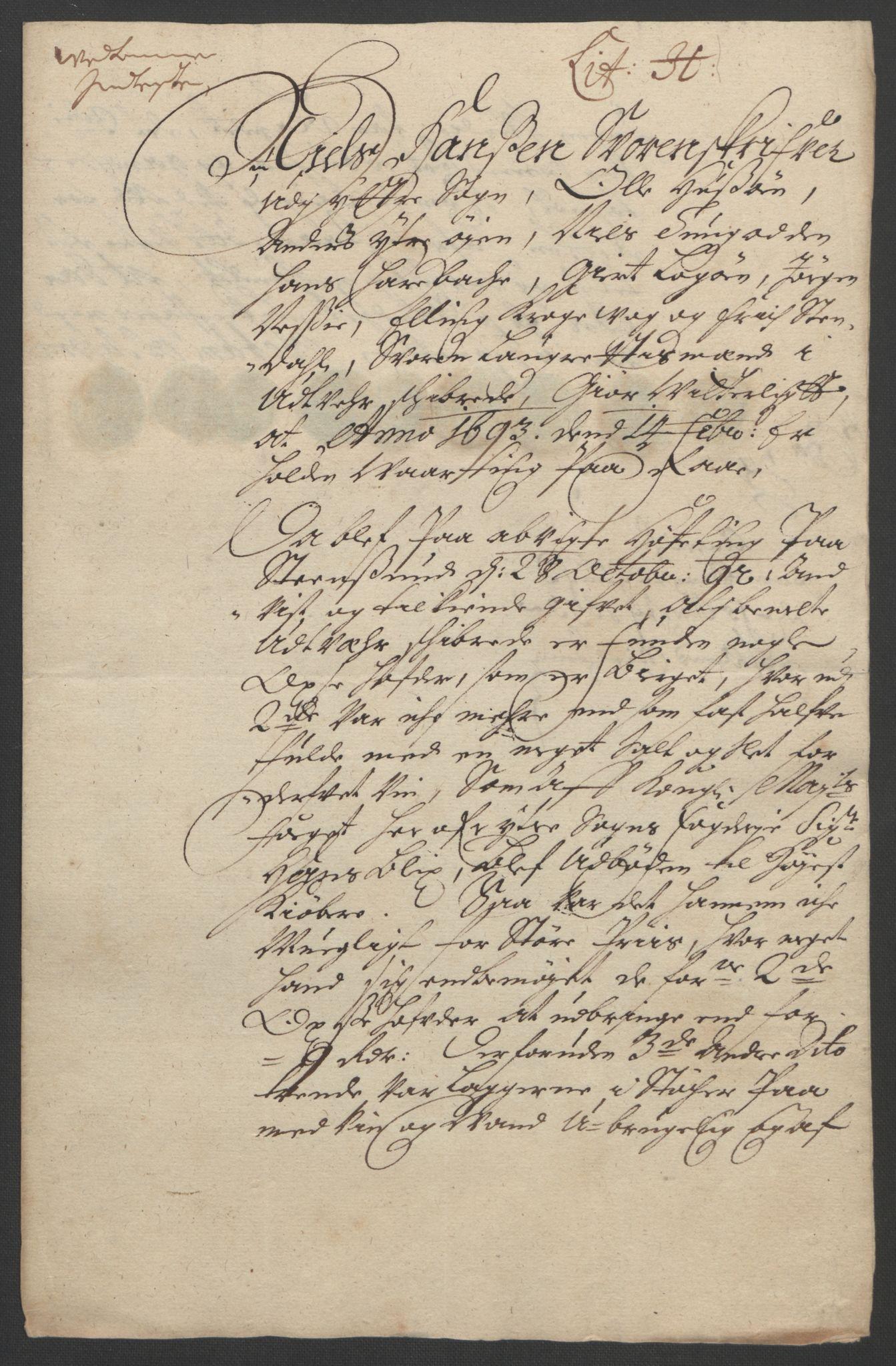 RA, Rentekammeret inntil 1814, Reviderte regnskaper, Fogderegnskap, R52/L3306: Fogderegnskap Sogn, 1691-1692, s. 374