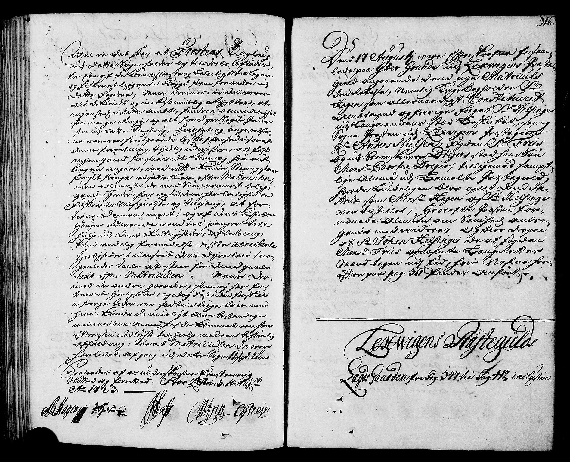 RA, Rentekammeret inntil 1814, Realistisk ordnet avdeling, N/Nb/Nbf/L0164: Stjørdal og Verdal eksaminasjonsprotokoll, 1723, s. 345b-346a