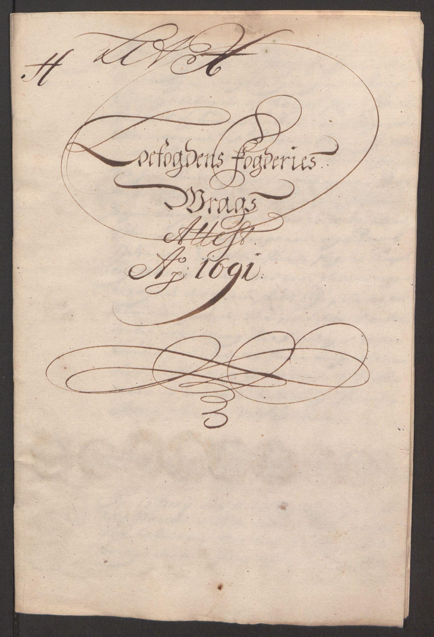 RA, Rentekammeret inntil 1814, Reviderte regnskaper, Fogderegnskap, R67/L4675: Fogderegnskap Vesterålen, Andenes og Lofoten, 1691-1693, s. 81