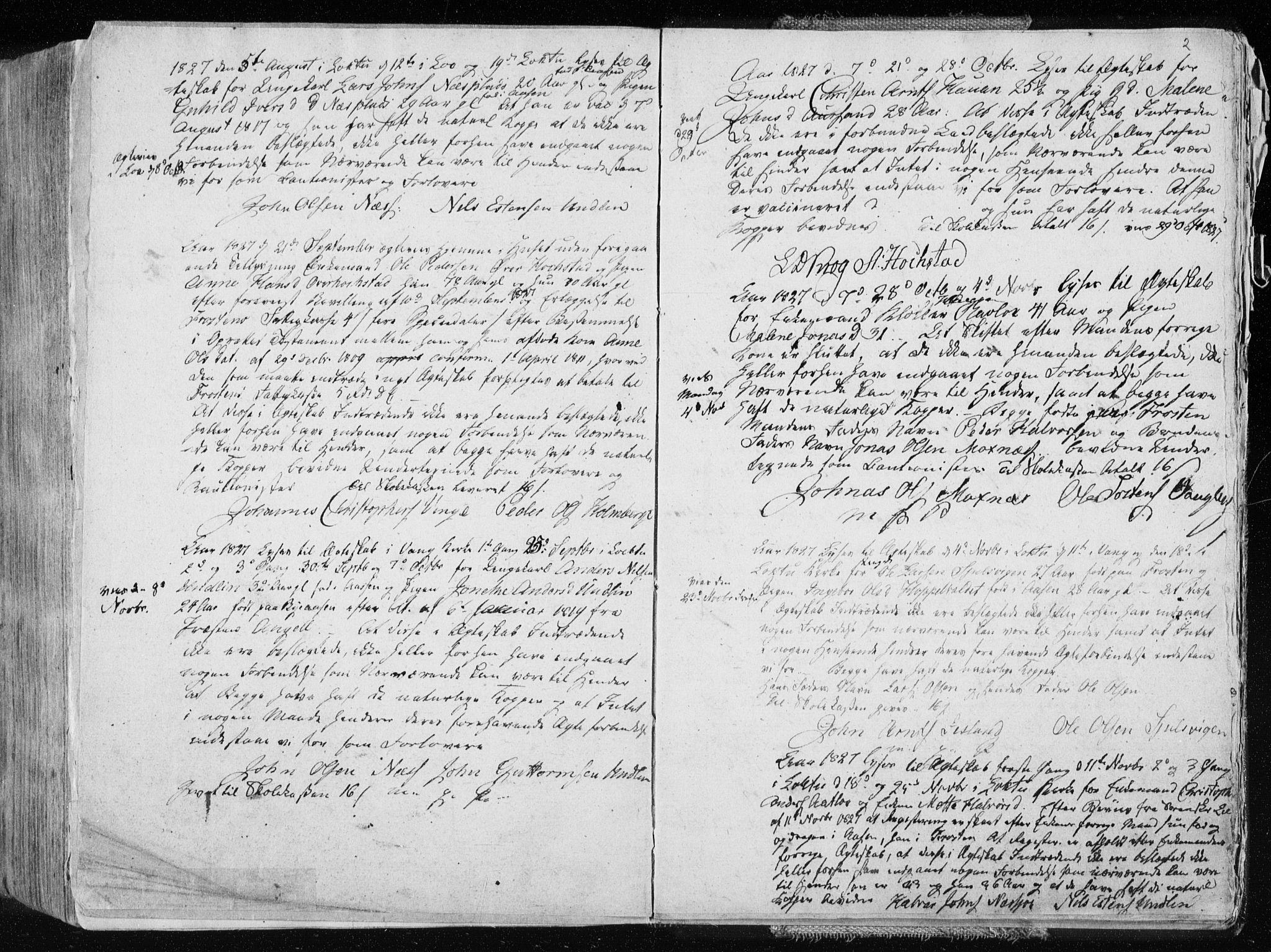 SAT, Ministerialprotokoller, klokkerbøker og fødselsregistre - Nord-Trøndelag, 713/L0114: Ministerialbok nr. 713A05, 1827-1839, s. 2