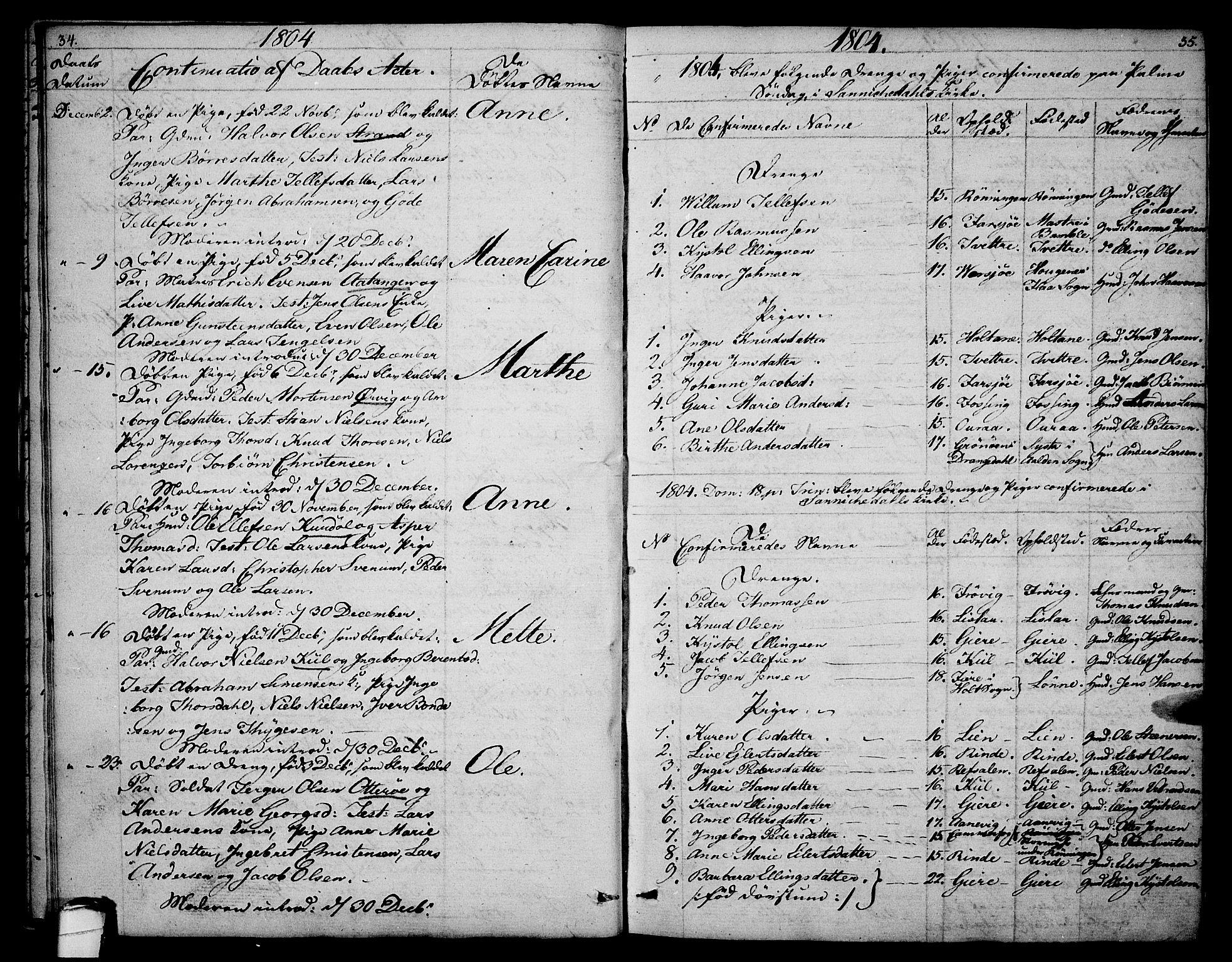 SAKO, Sannidal kirkebøker, F/Fa/L0003: Ministerialbok nr. 3, 1803-1813, s. 34-35