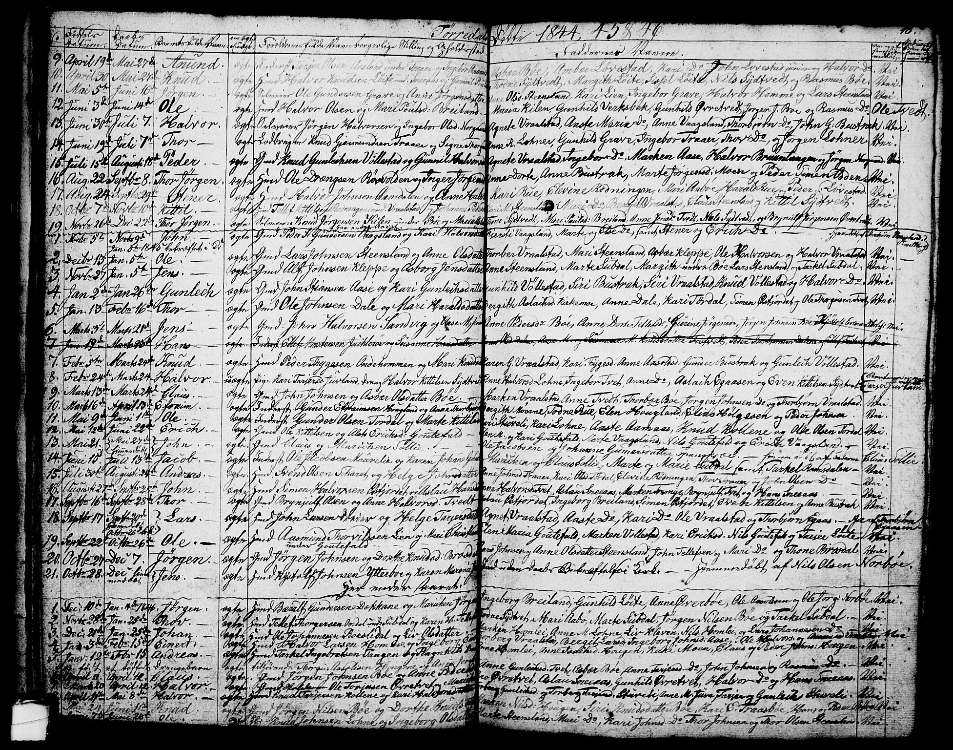 SAKO, Drangedal kirkebøker, G/Ga/L0001: Klokkerbok nr. I 1 /2, 1814-1856, s. 18