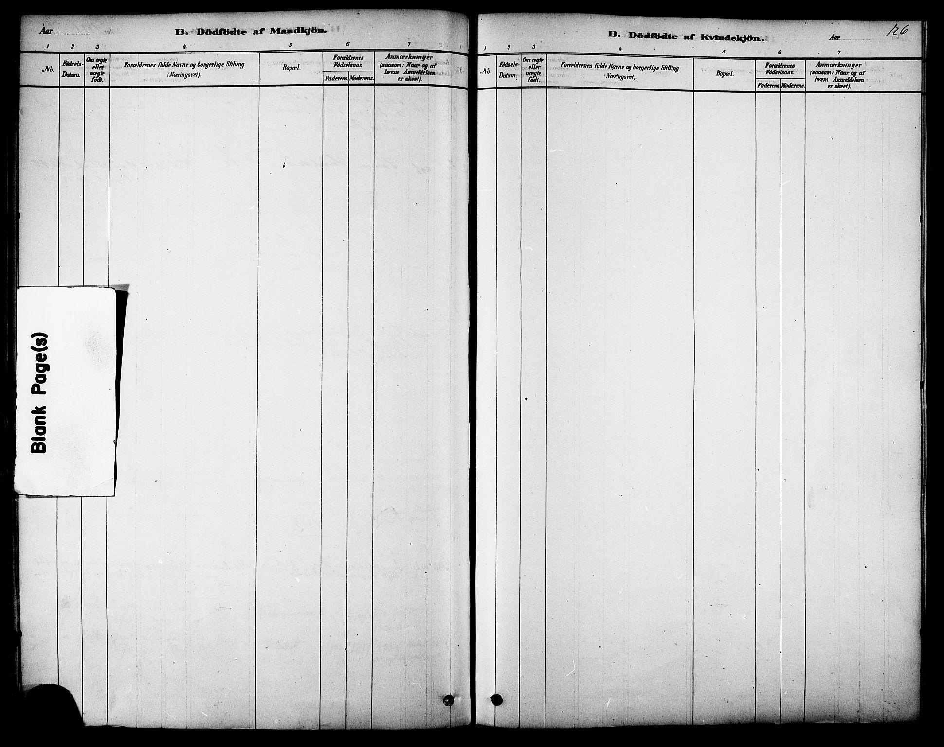 SAT, Ministerialprotokoller, klokkerbøker og fødselsregistre - Sør-Trøndelag, 616/L0410: Ministerialbok nr. 616A07, 1878-1893, s. 126