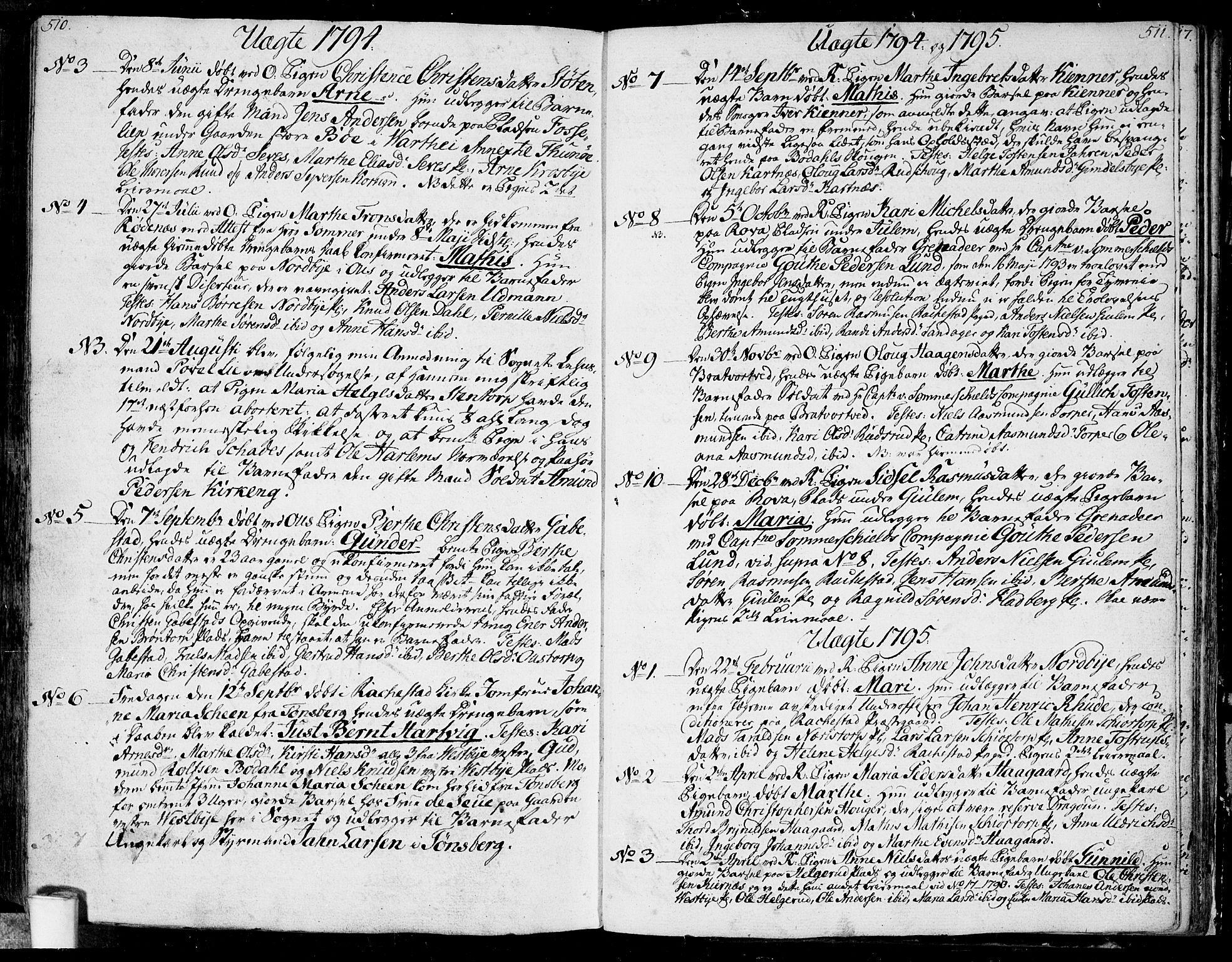 SAO, Rakkestad prestekontor Kirkebøker, F/Fa/L0005: Ministerialbok nr. I 5, 1784-1814, s. 510-511