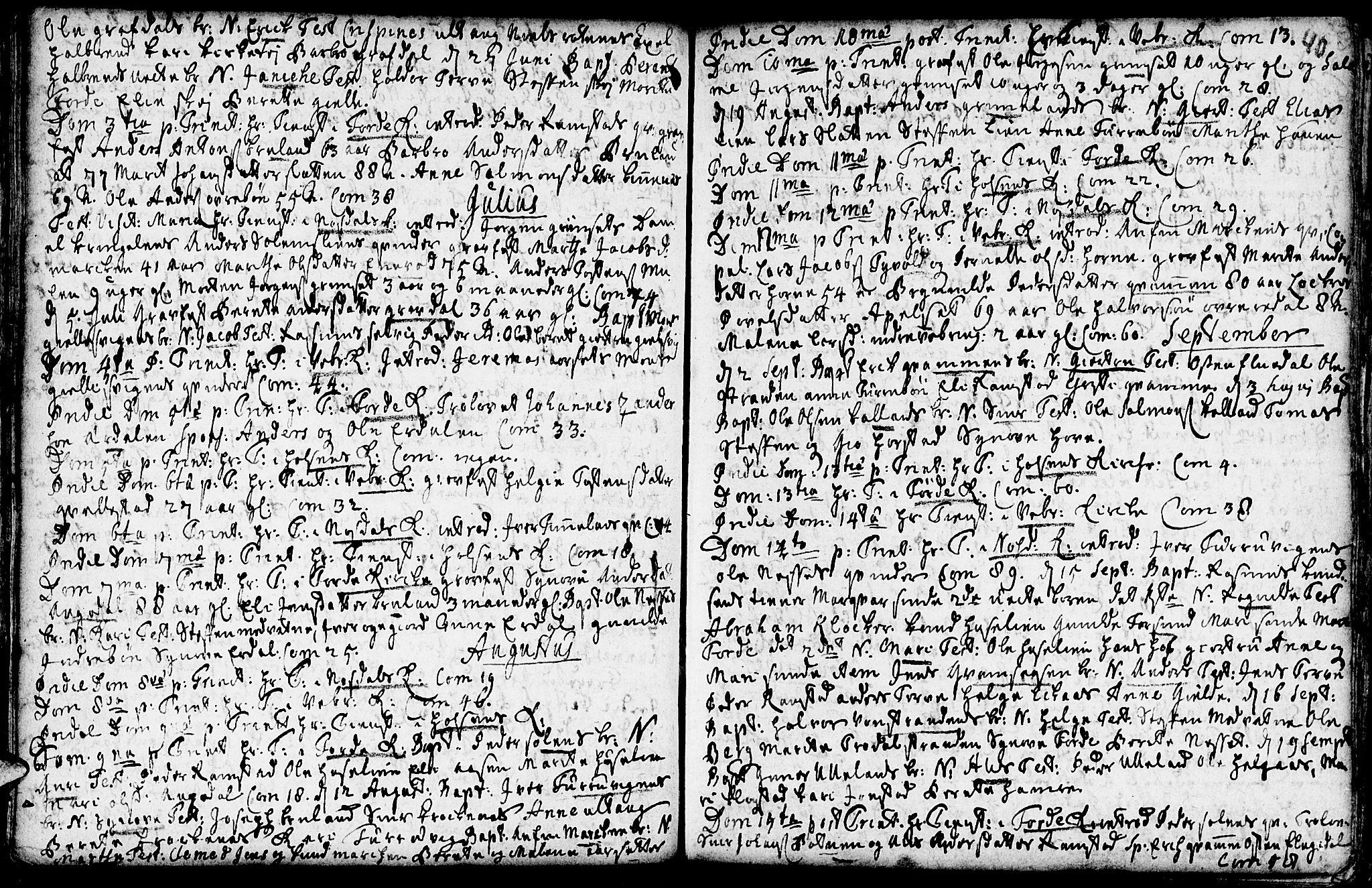SAB, Førde sokneprestembete, H/Haa: Ministerialbok nr. A 2, 1728-1748, s. 40