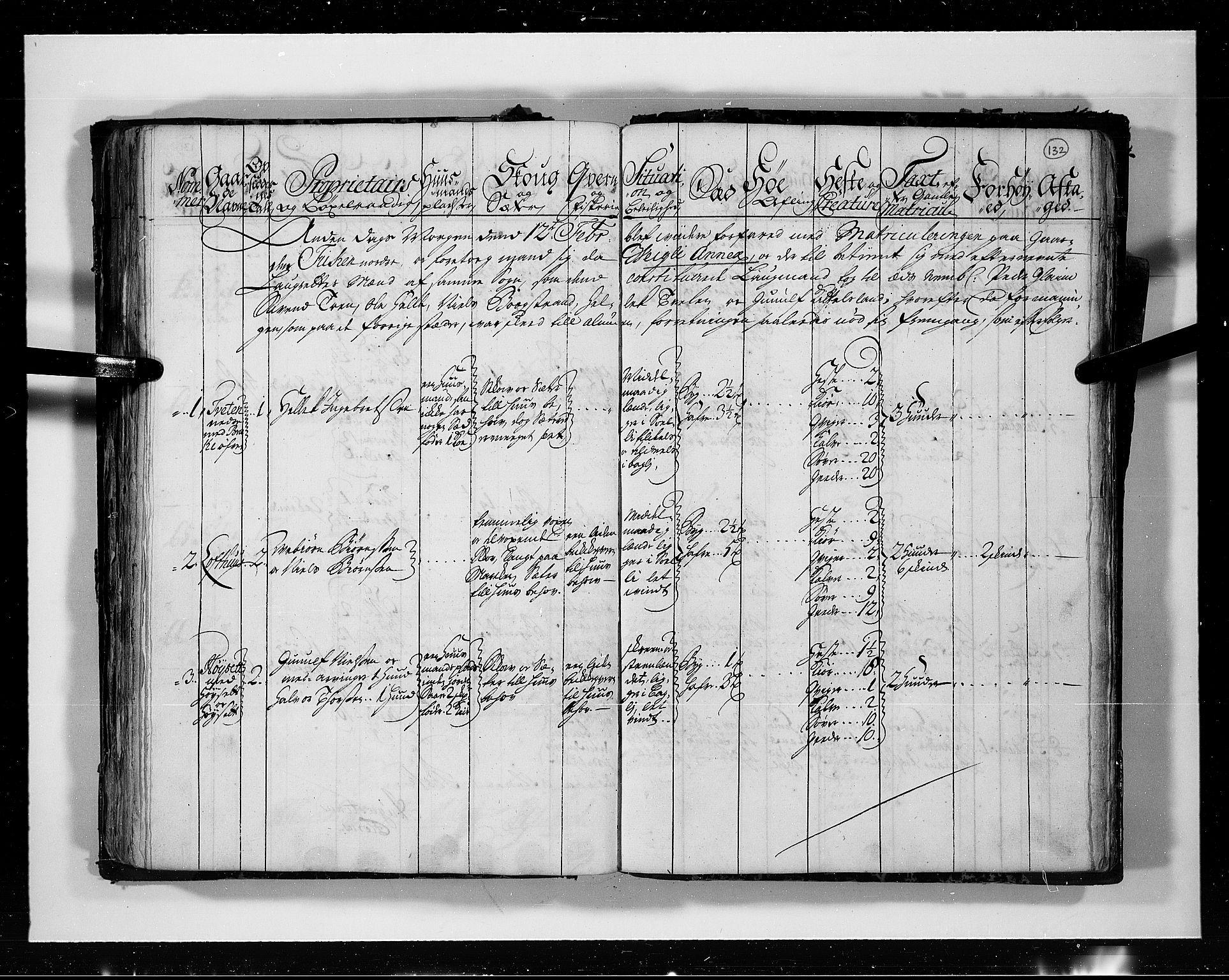 RA, Rentekammeret inntil 1814, Realistisk ordnet avdeling, N/Nb/Nbf/L0113: Numedal og Sandsvær eksaminasjonsprotokoll, 1723, s. 131b-132a
