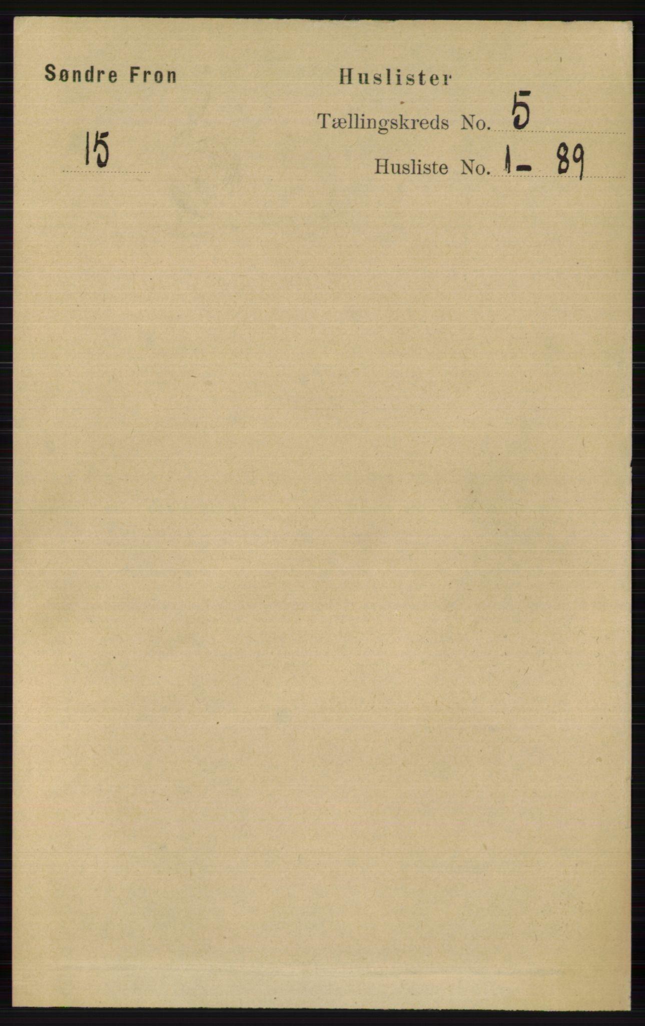 RA, Folketelling 1891 for 0519 Sør-Fron herred, 1891, s. 1954