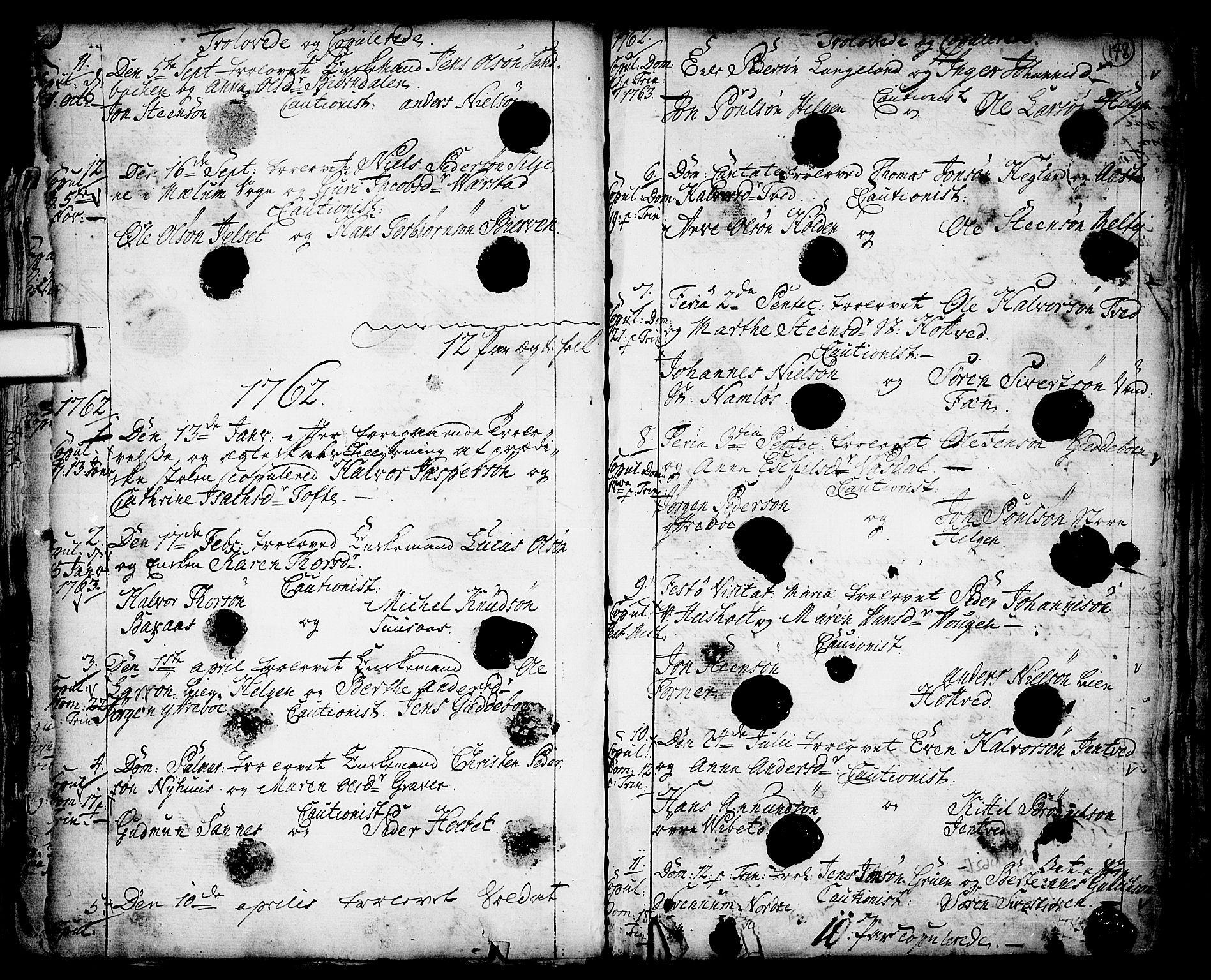 SAKO, Holla kirkebøker, F/Fa/L0001: Ministerialbok nr. 1, 1717-1779, s. 178