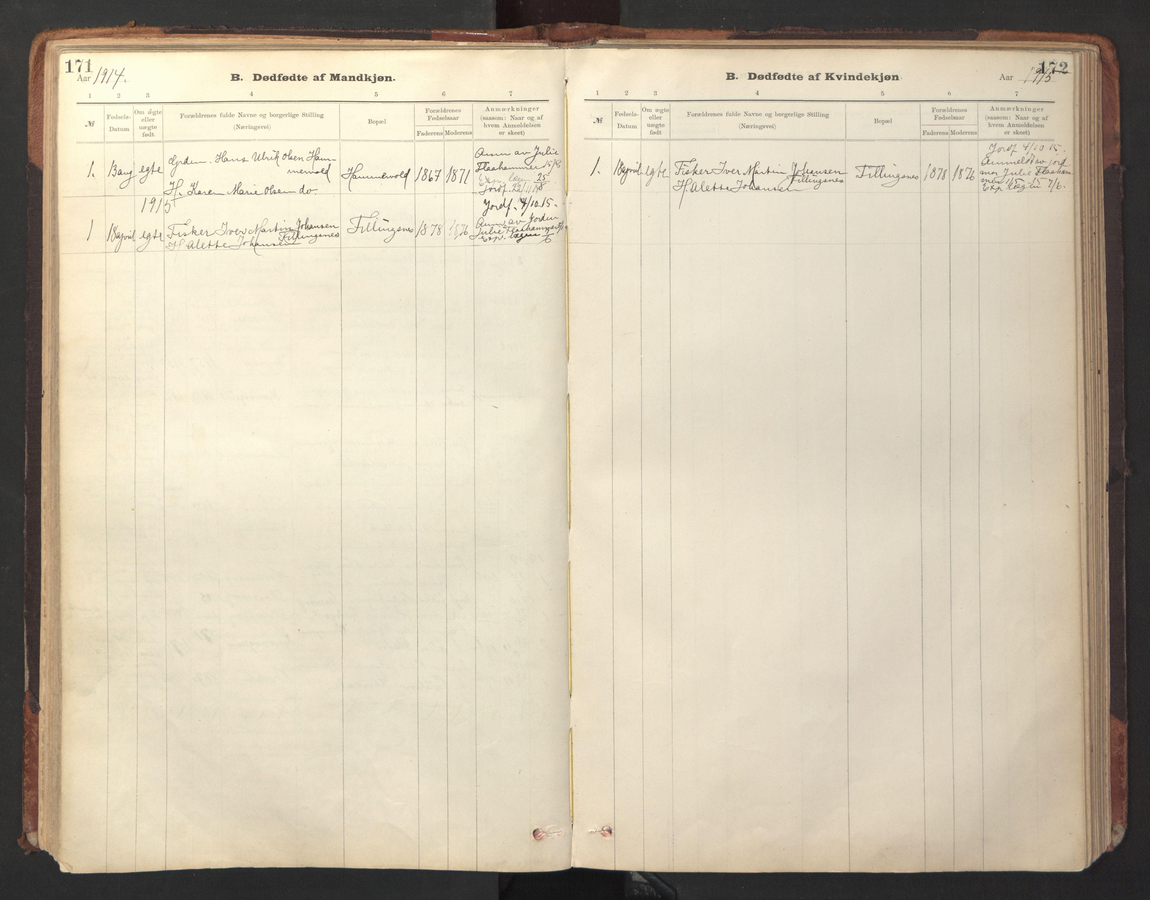 SAT, Ministerialprotokoller, klokkerbøker og fødselsregistre - Sør-Trøndelag, 641/L0596: Ministerialbok nr. 641A02, 1898-1915, s. 171-172