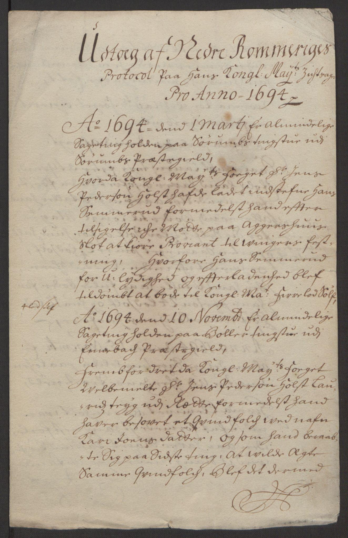 RA, Rentekammeret inntil 1814, Reviderte regnskaper, Fogderegnskap, R11/L0579: Fogderegnskap Nedre Romerike, 1694-1695, s. 24