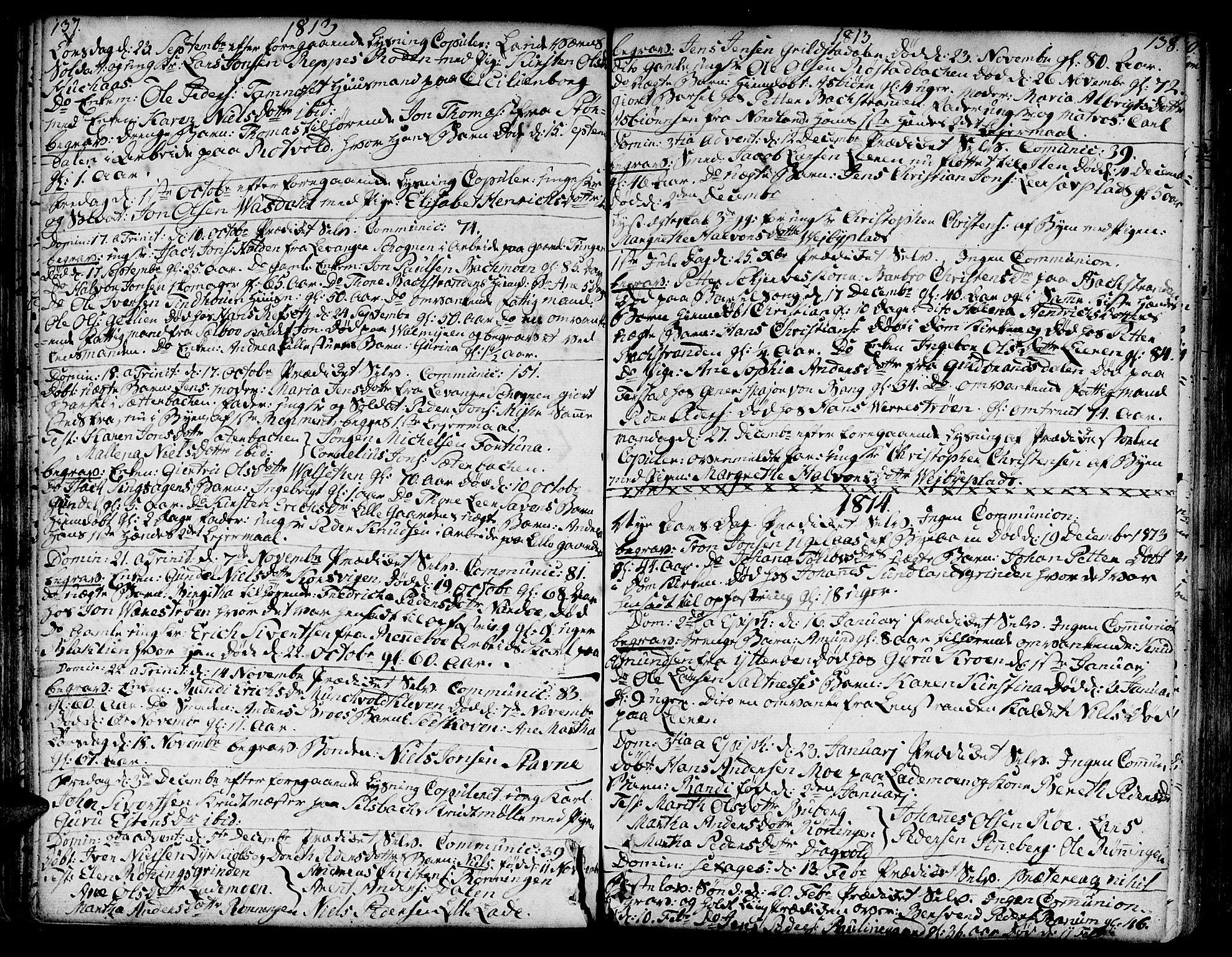 SAT, Ministerialprotokoller, klokkerbøker og fødselsregistre - Sør-Trøndelag, 606/L0280: Ministerialbok nr. 606A02 /1, 1781-1817, s. 137-138